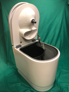 Deluxe Compost toilet with integrated urine diverter 12v self stirring