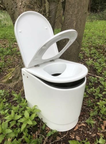 Deluxe Compost toilet with urine diverter 12v self stirring