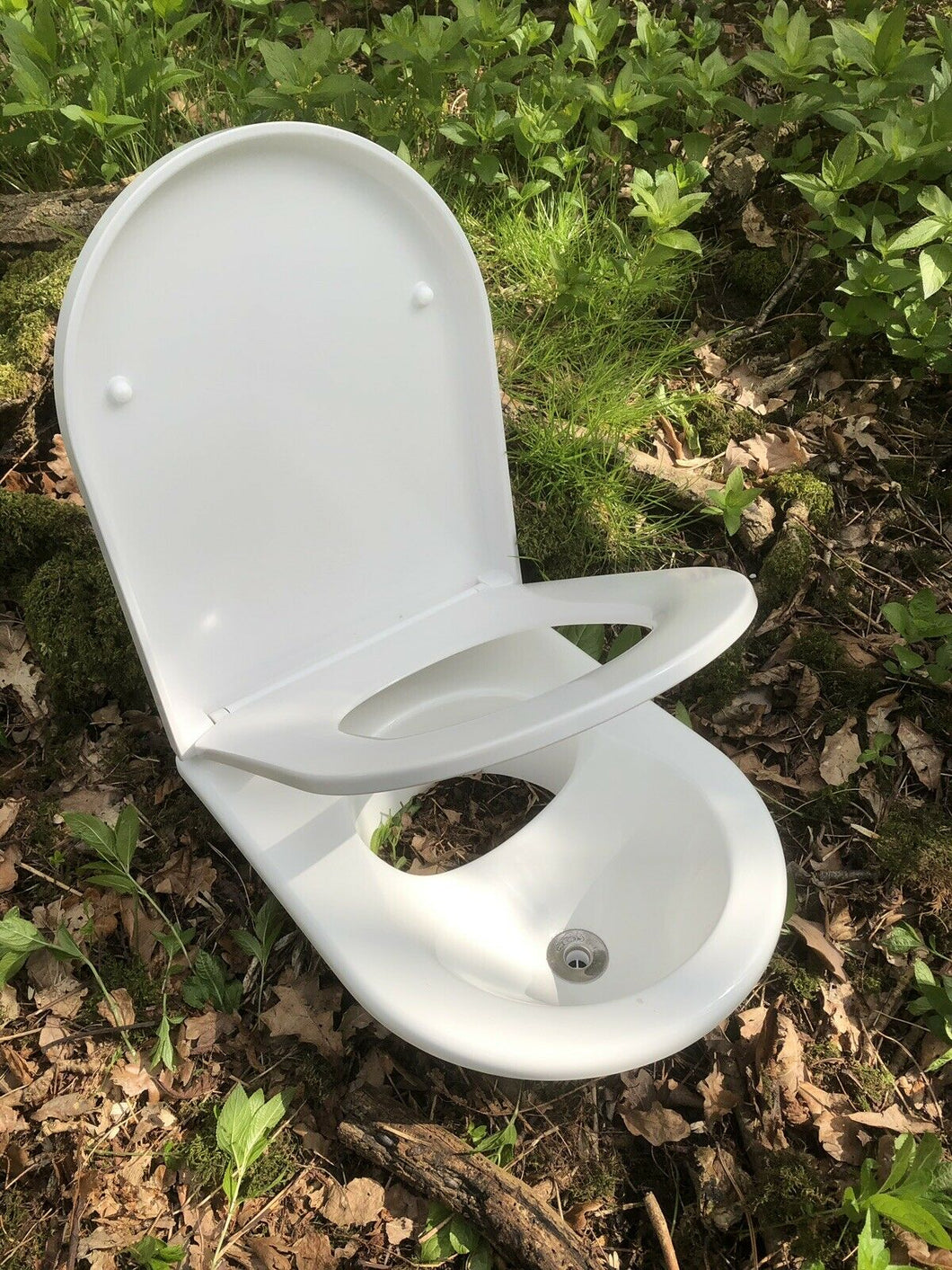 Deluxe Urine diverter for Eco composting toilet /separator with soft close seat
