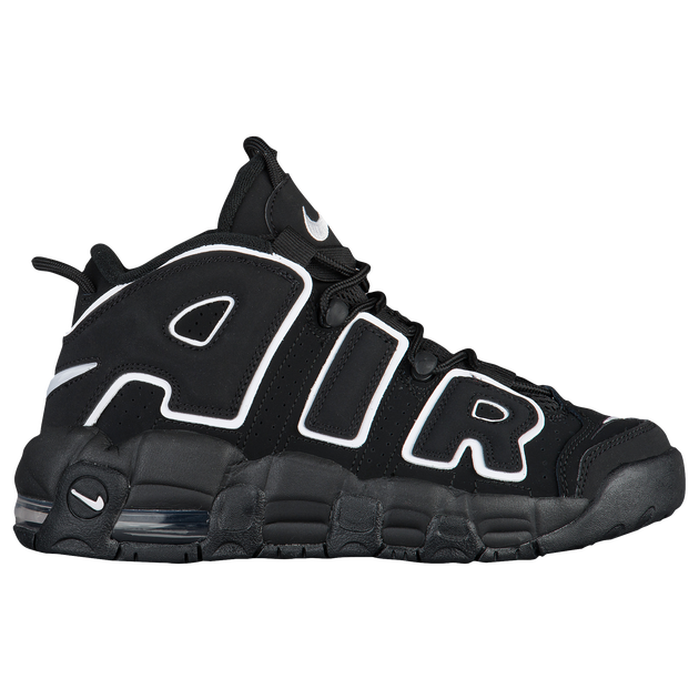 "Available Now: GS Nike Air More Uptempo ""Black White"""