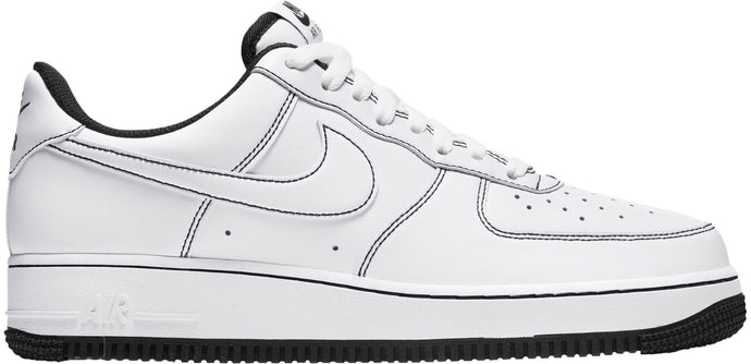 "Available Now: Nike Air Force 1 Stitch ""White Black"""