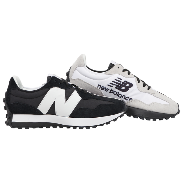 "Available Now: New Balance 327 ""Black White"""