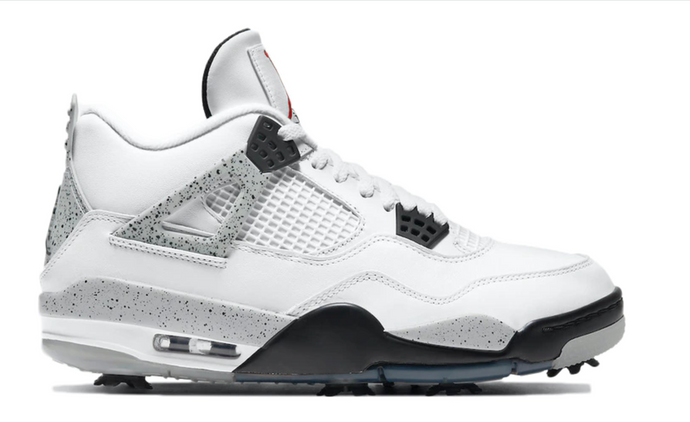 "Available Now: Air Jordan Retro 4 Golf ""White Cement"""