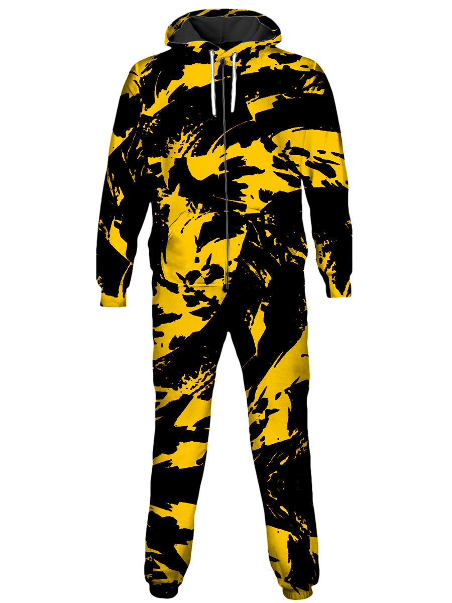 Black and Yellow Paint Splatter Onesie