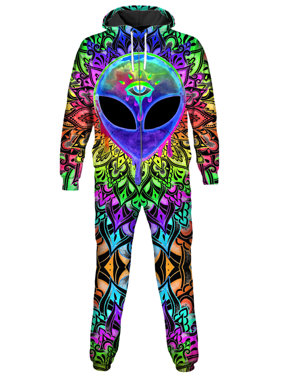 Psy Alien Purple Onesie