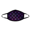Galactic Dragon Scale Purple Cloth Face Mask