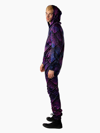 Galactic Dragon Scale Purple Onesie