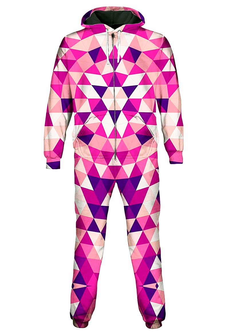 Triangulate Pink Onesie