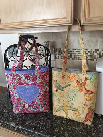 hand made tote bags with applique
