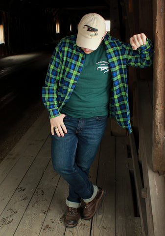 Vermont Flannel Company Fitted Flannel under covered Bridge