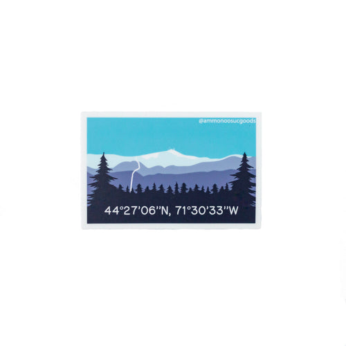 Mount Washington Vinyl Stick | Ammonoosuc Goods