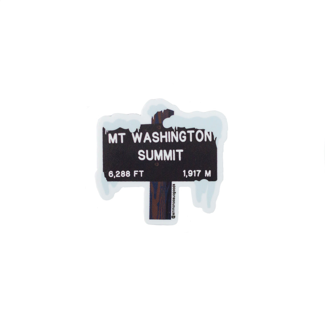 Mount Washington Trail Sign Sticker | Ammonoosuc Goods
