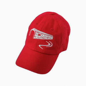 Bridge and River Ball cap - Red White Background