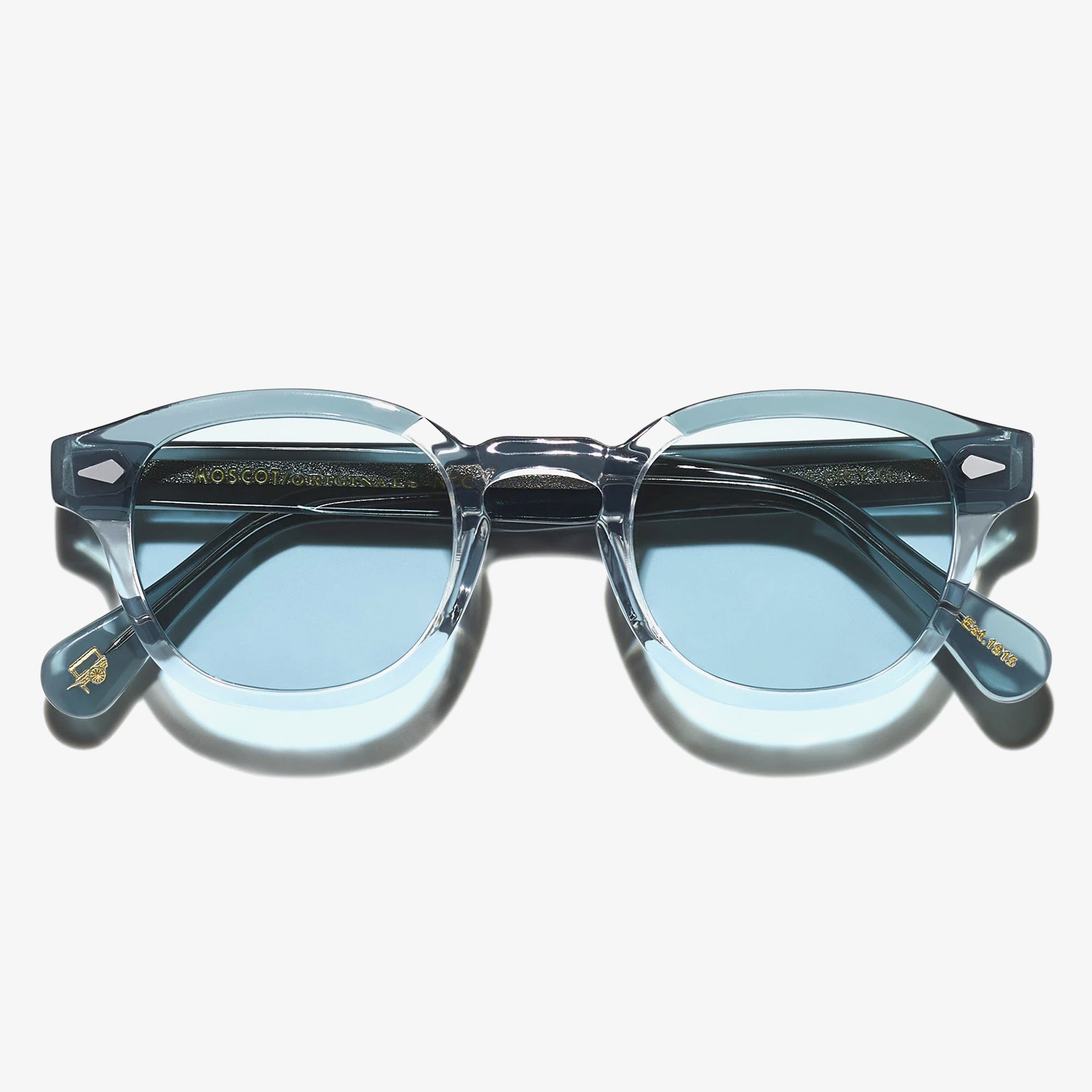Moscot Lemtosh Sunglasses - Light Blue Grey/ Mineral Blue 1