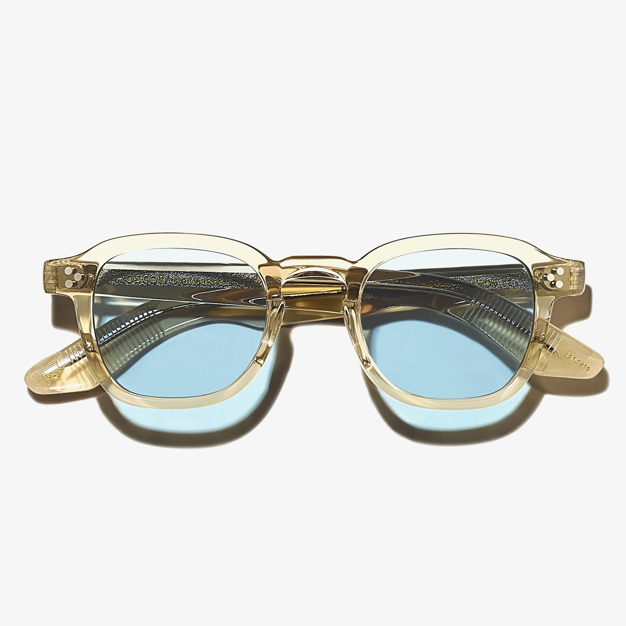 Moscot Momza Sunglasses - Cinnamon / Blue 1