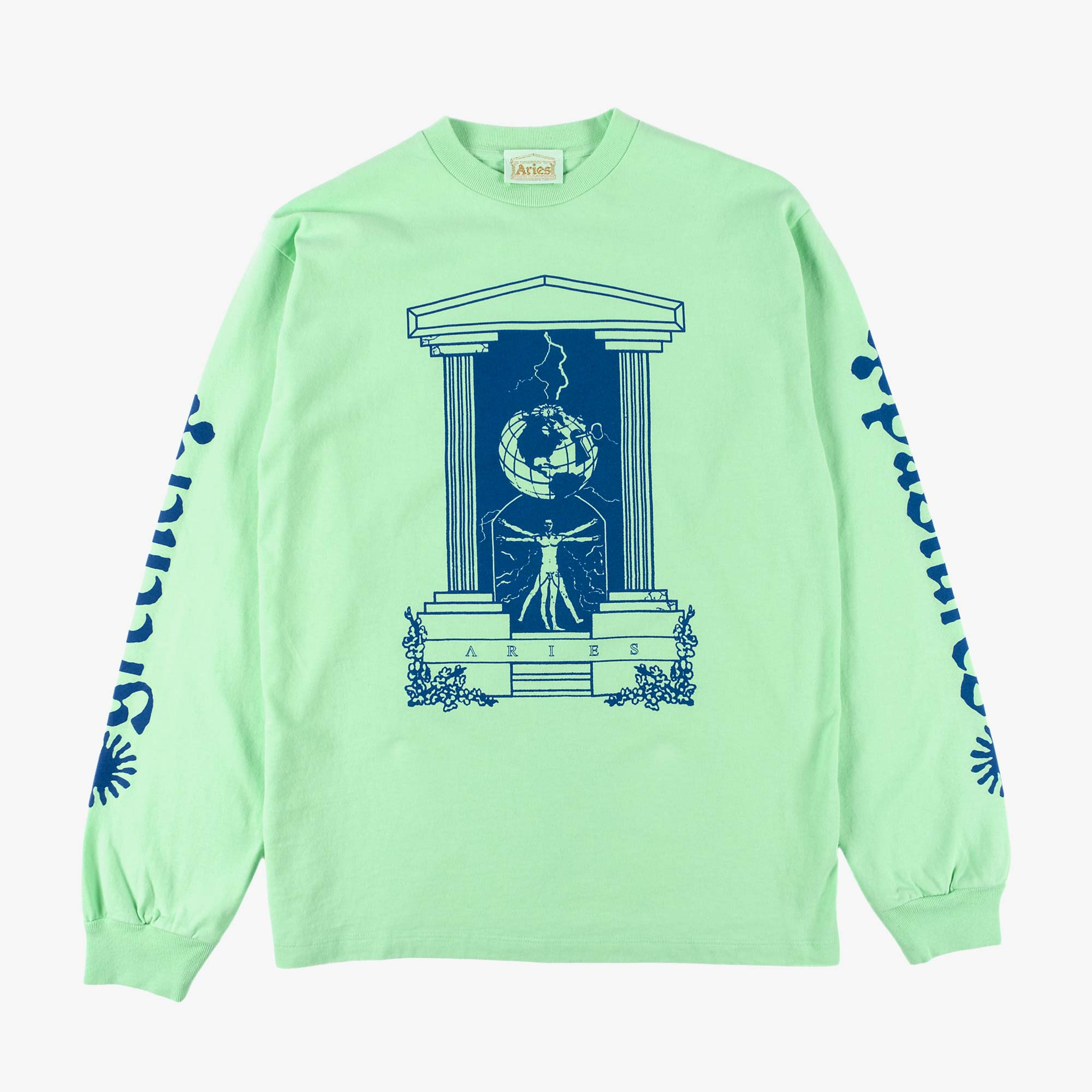 Aries Biology LS Tee - Aqua 1
