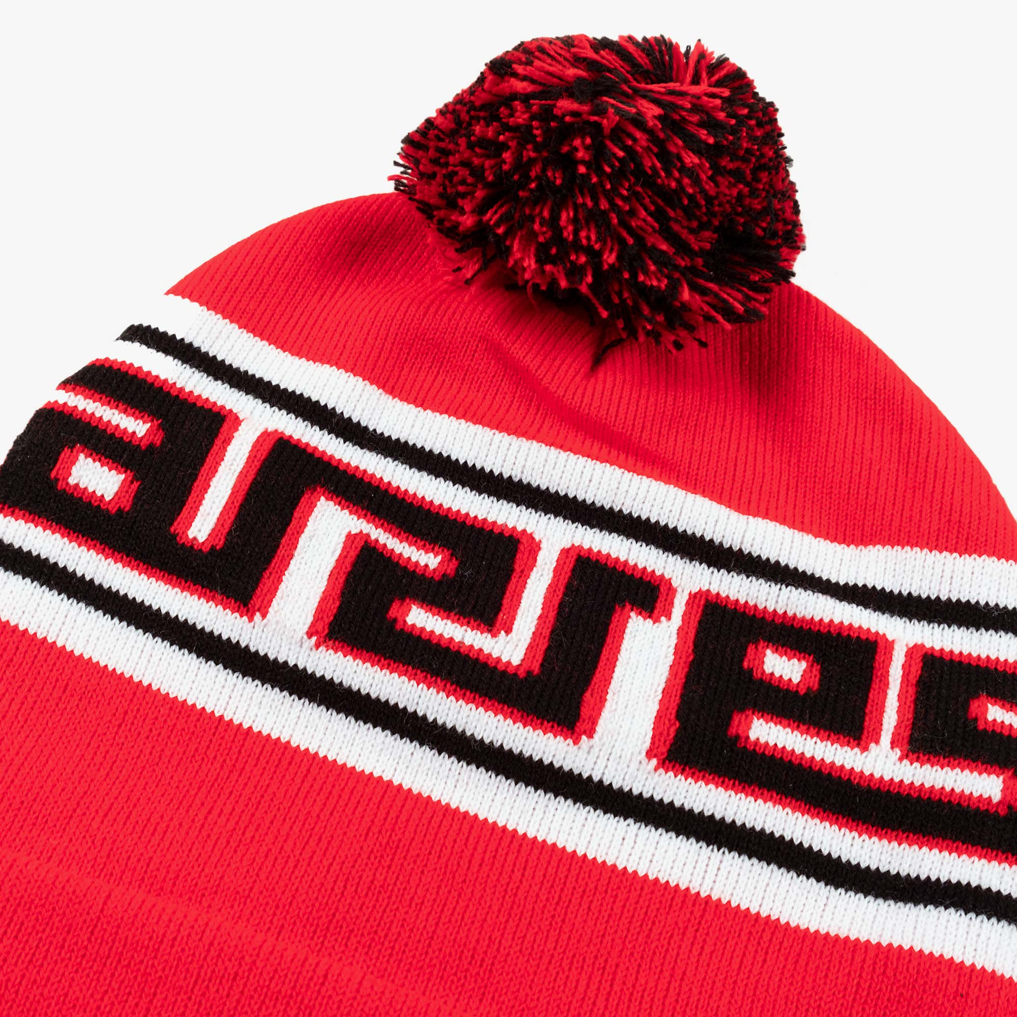 Aries Meandros Beanie - Black / Red 2