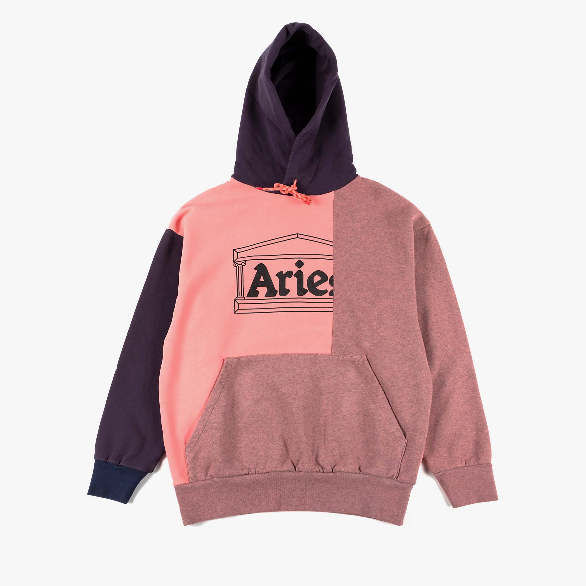 Aries OD Colourblock Temple Hoodie - Pink 1