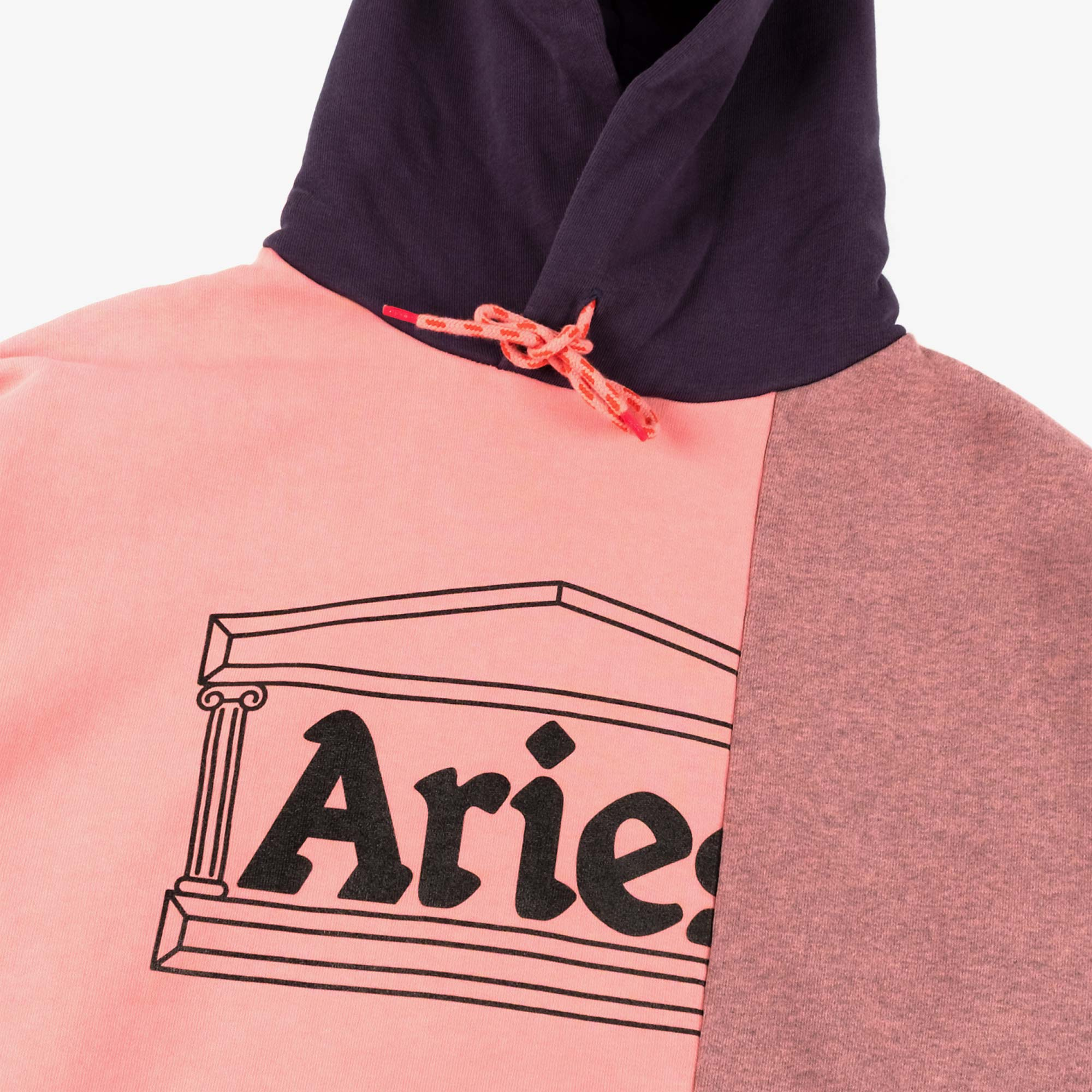 Aries OD Colourblock Temple Hoodie - Pink 2
