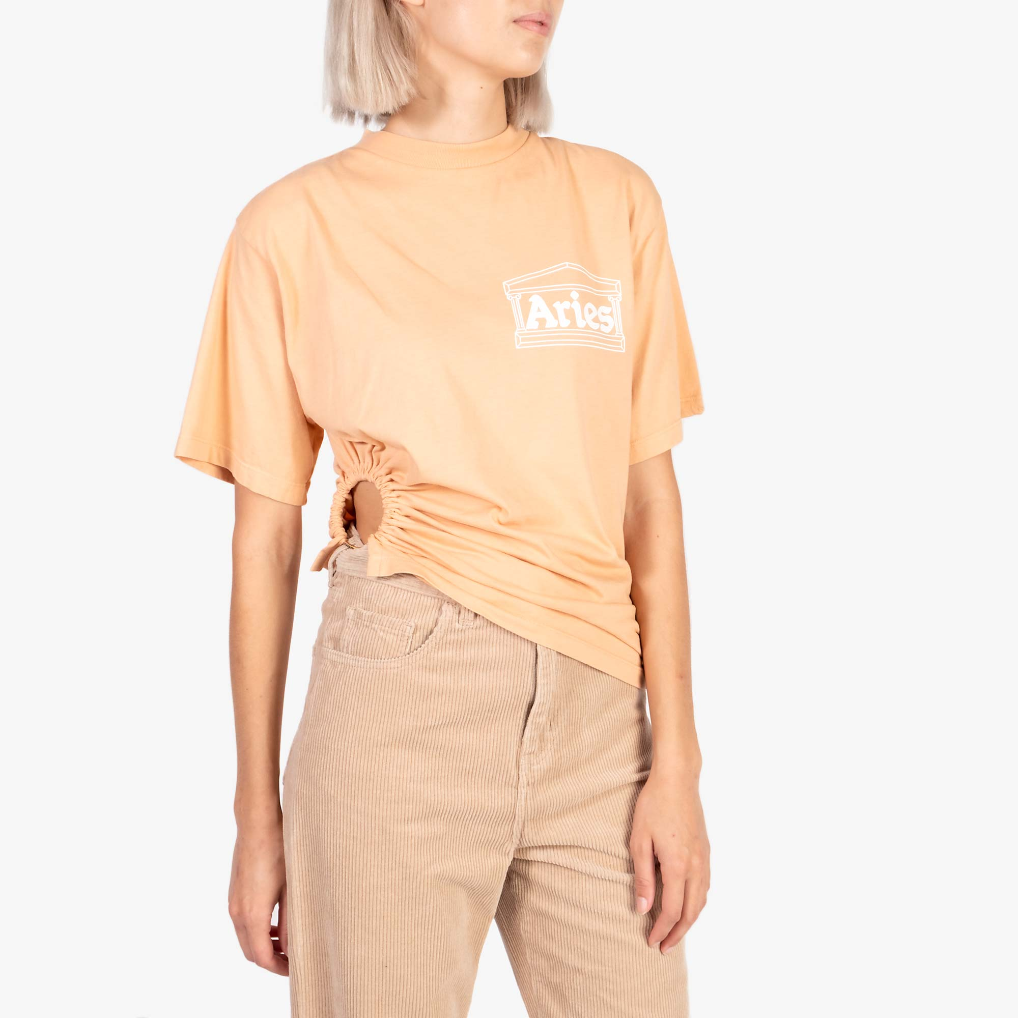 Aries Women's Ring Tee - Peach 1