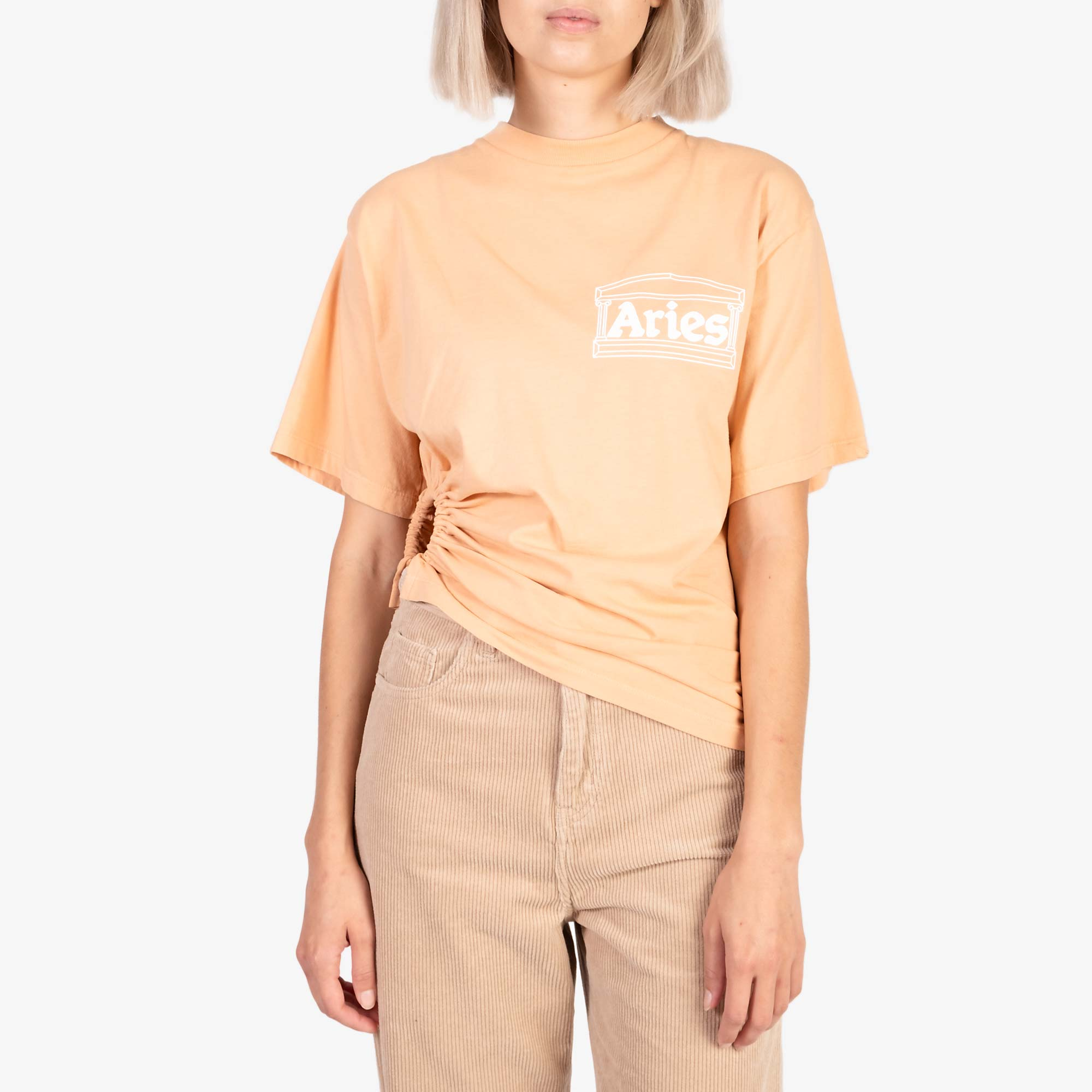 Aries Women's Ring Tee - Peach 2