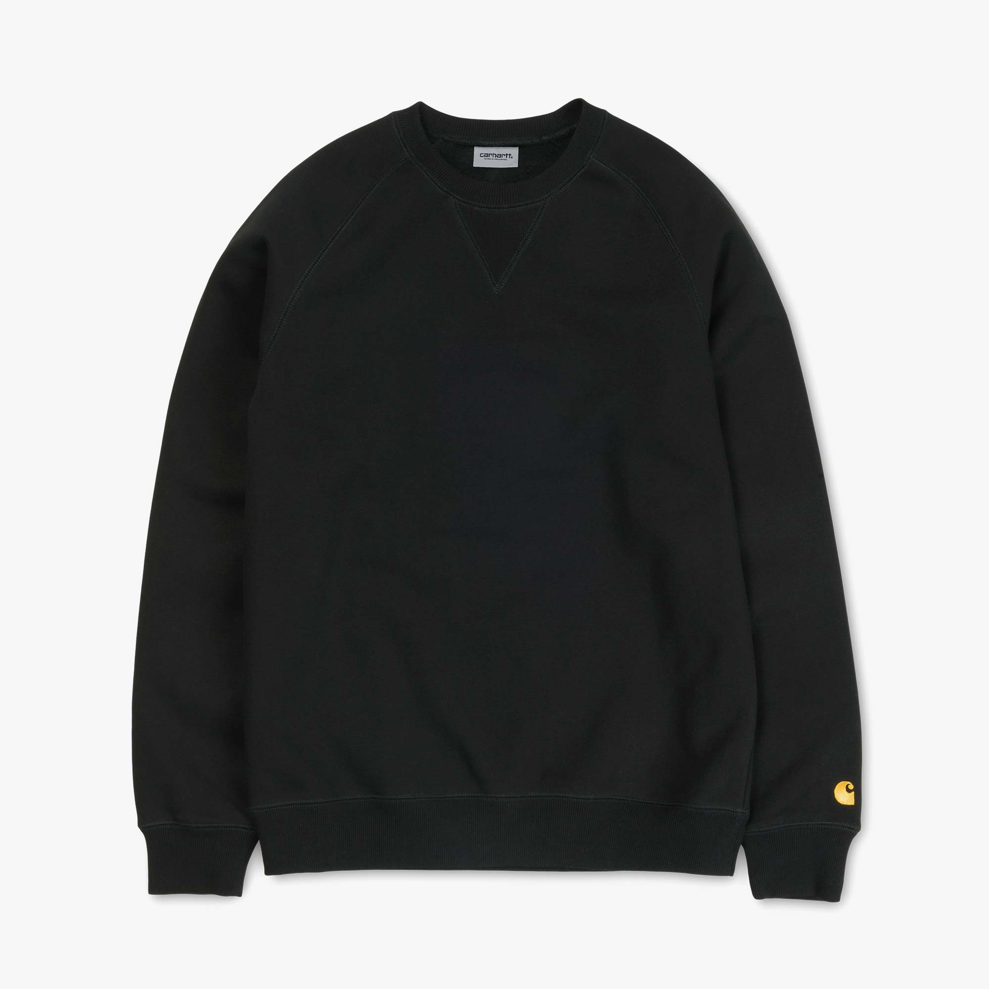 Carhartt WIP Chase Sweat - Black / Gold 1