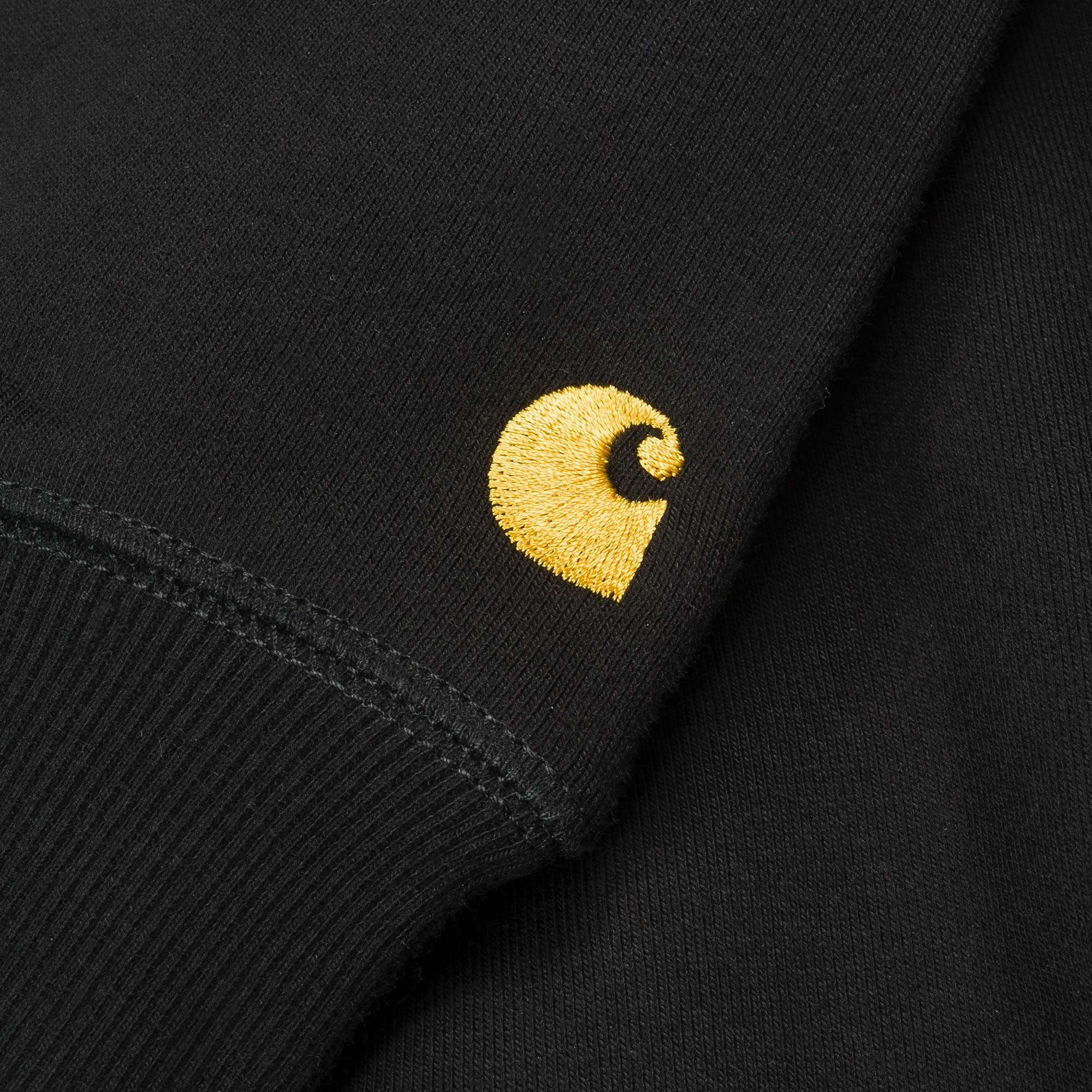Carhartt WIP Chase Sweat - Black / Gold 2