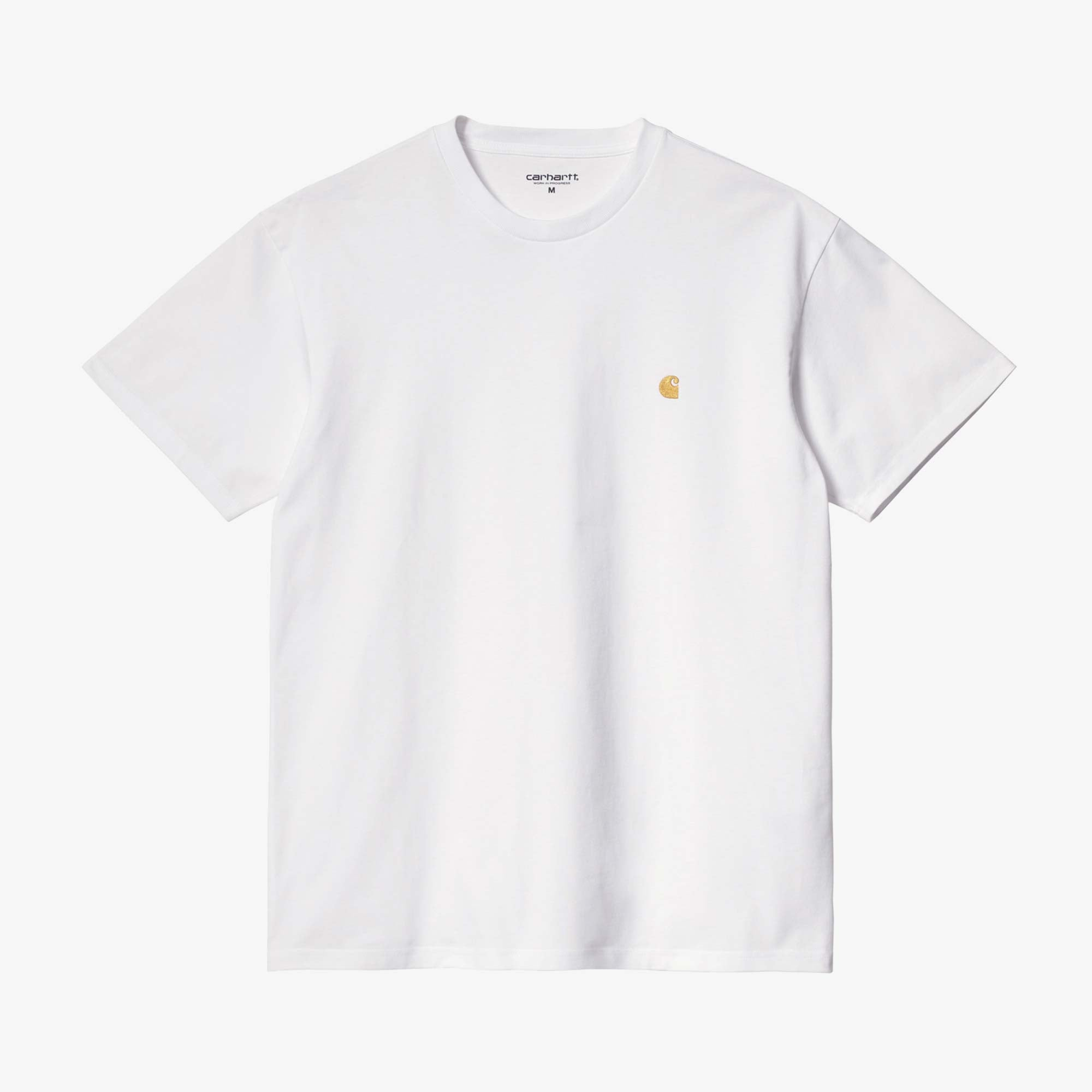Carhartt WIP Chase Tee - White / Gold 1