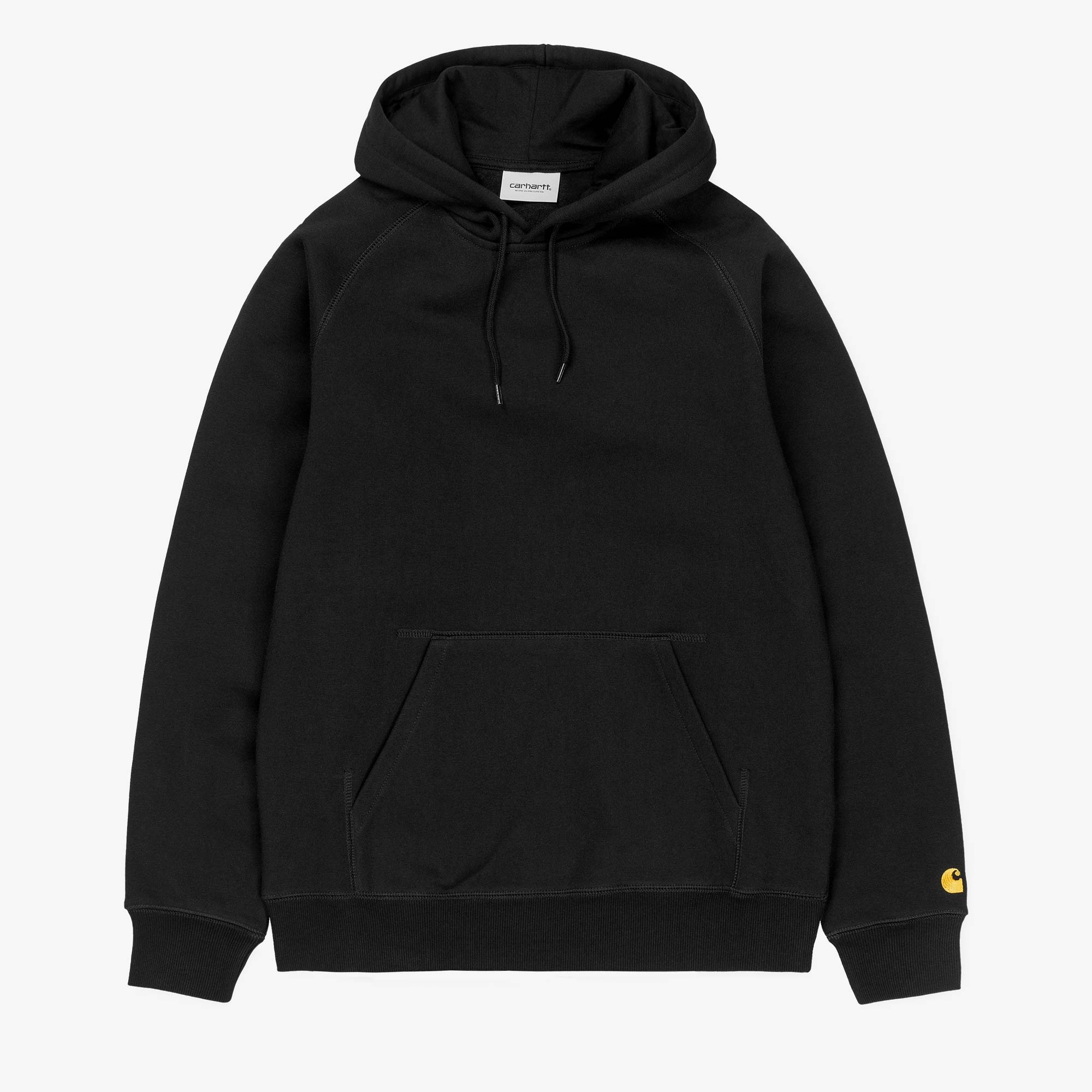 Carhartt WIP Hooded Chase Sweat - Black / Gold 1
