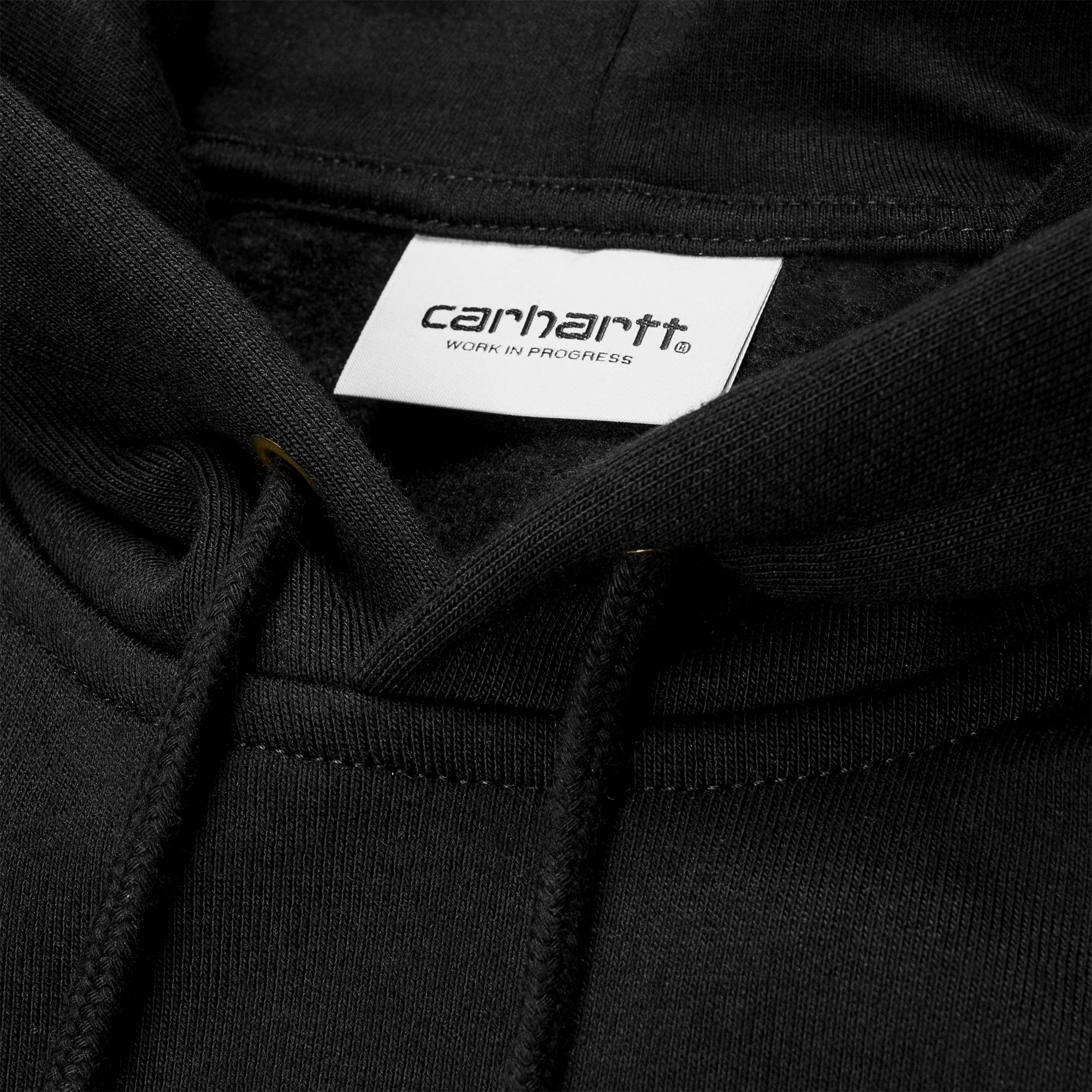 Carhartt WIP Hooded Chase Sweat - Black / Gold 2