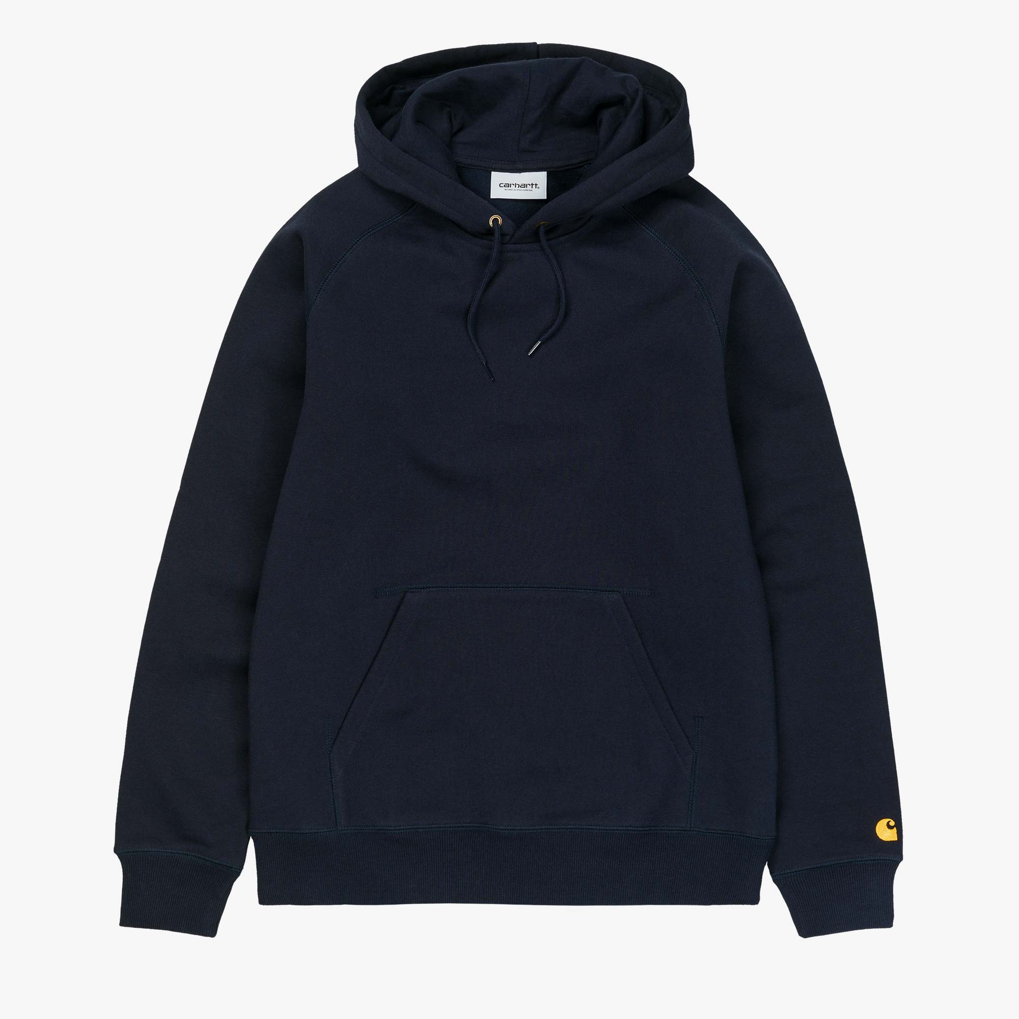 Carhartt WIP Hooded Chase Sweat - Dark Navy / Gold 1
