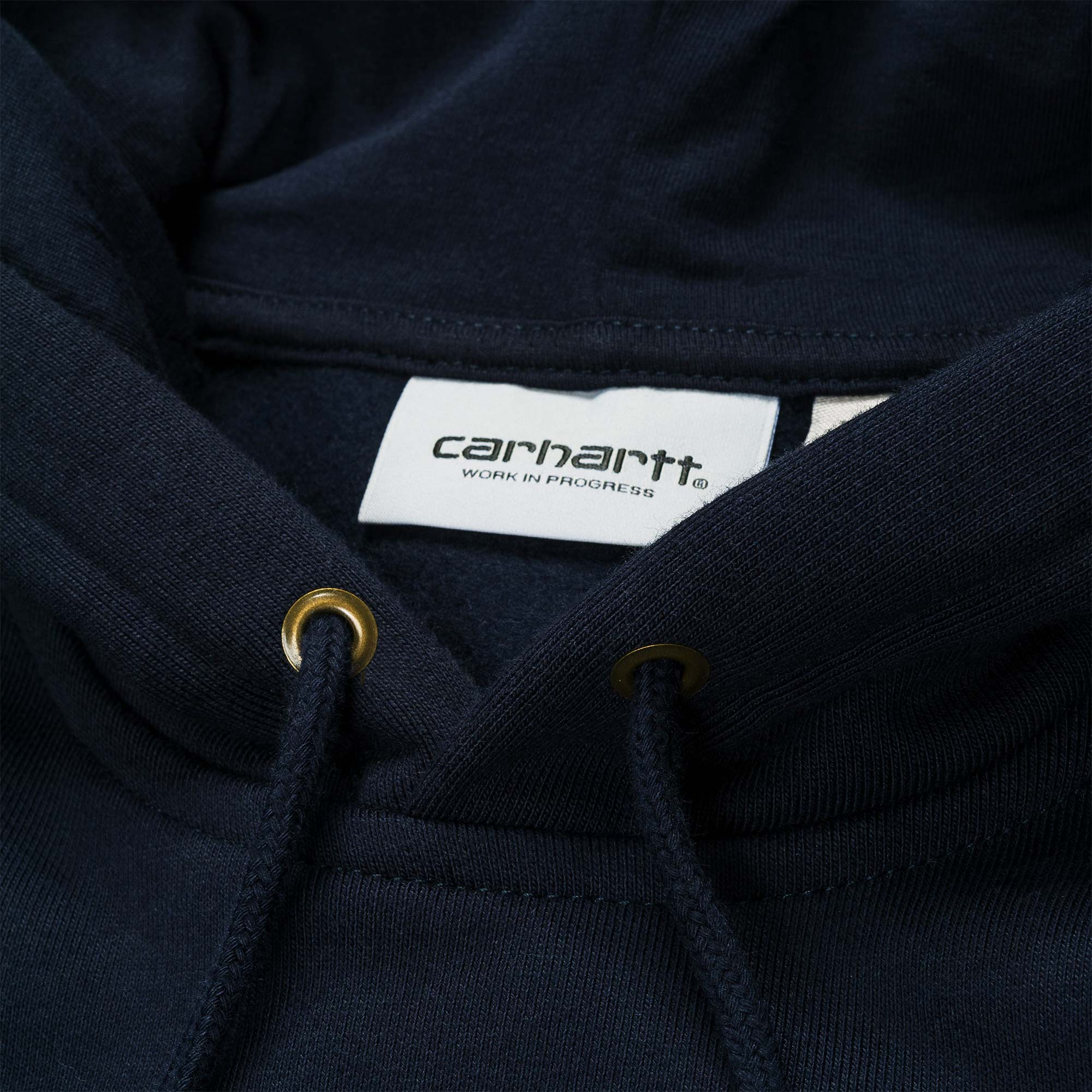 Carhartt WIP Hooded Chase Sweat - Dark Navy / Gold 2