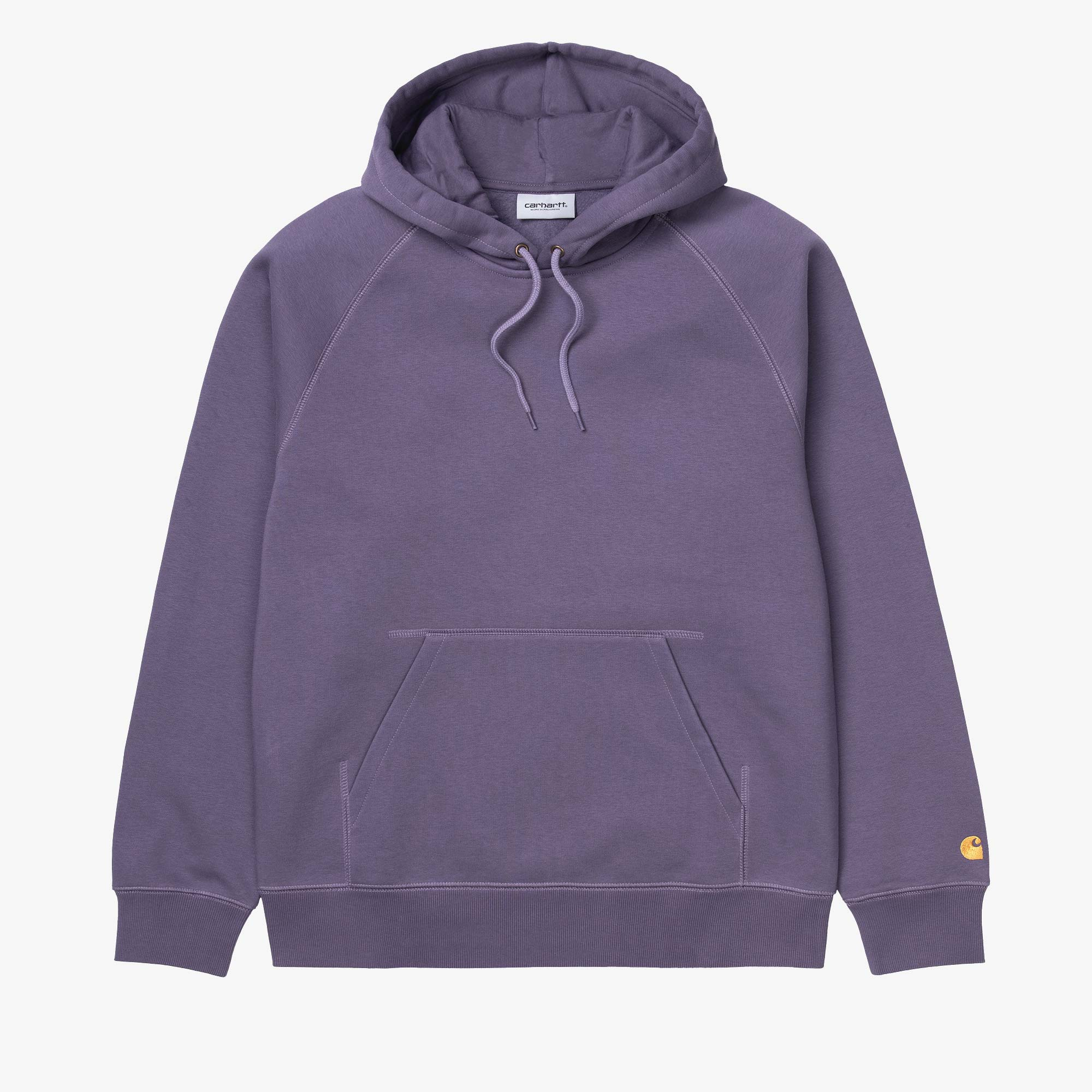 Carhartt WIP Hooded Chase Sweat - Provence / Gold 1