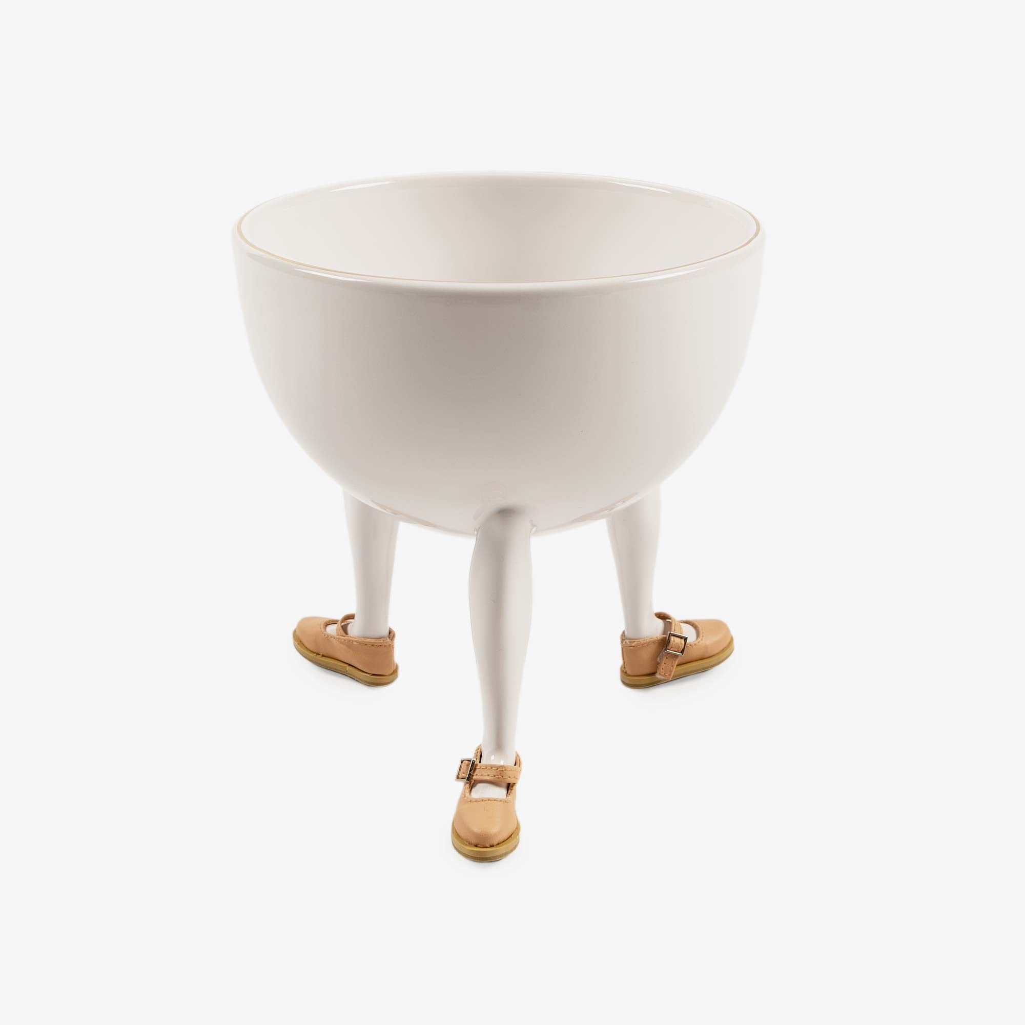 Chen Chen & Kai Williams Leg Bowl with Building Block Mary Jane - Ceramic / Synthetic Fabric 1