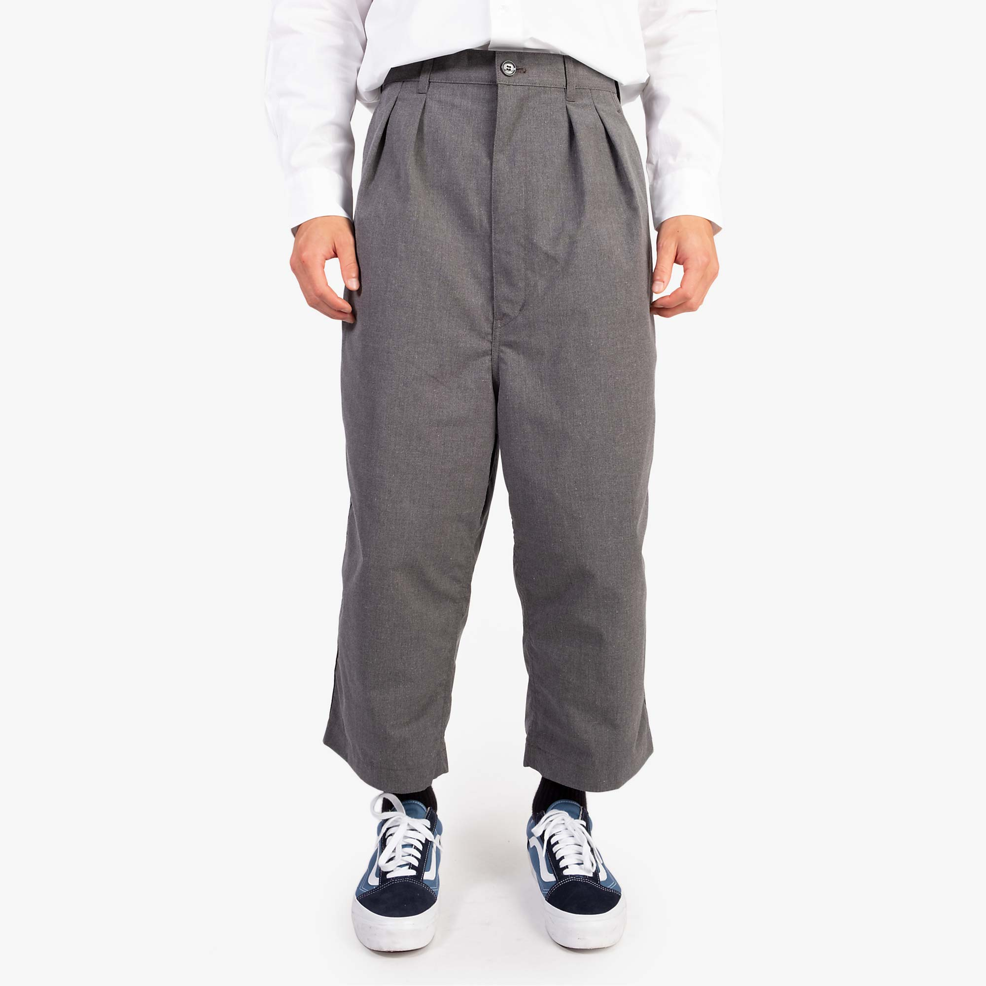 Comme des Garçons - Homme Two Tuck Wide Pleat Trousers - Grey 2