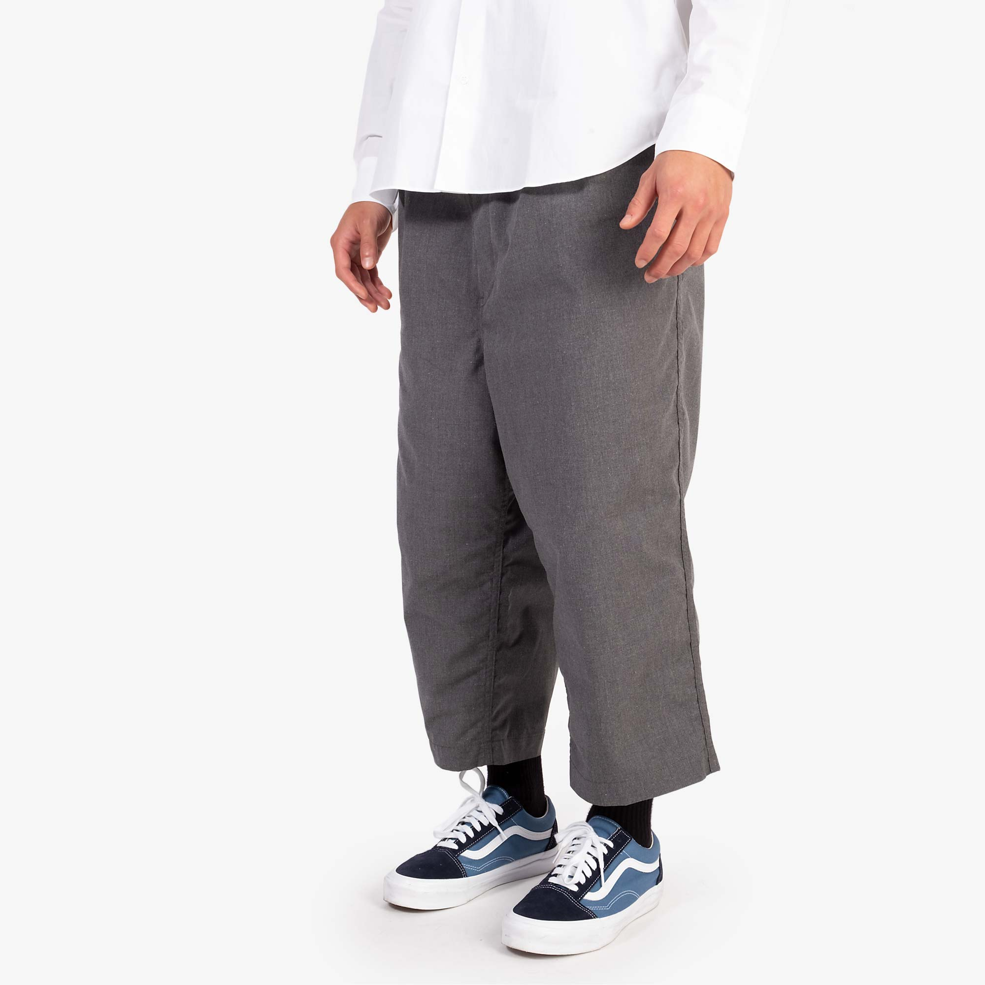 Comme des Garçons - Homme Two Tuck Wide Pleat Trousers - Grey 8