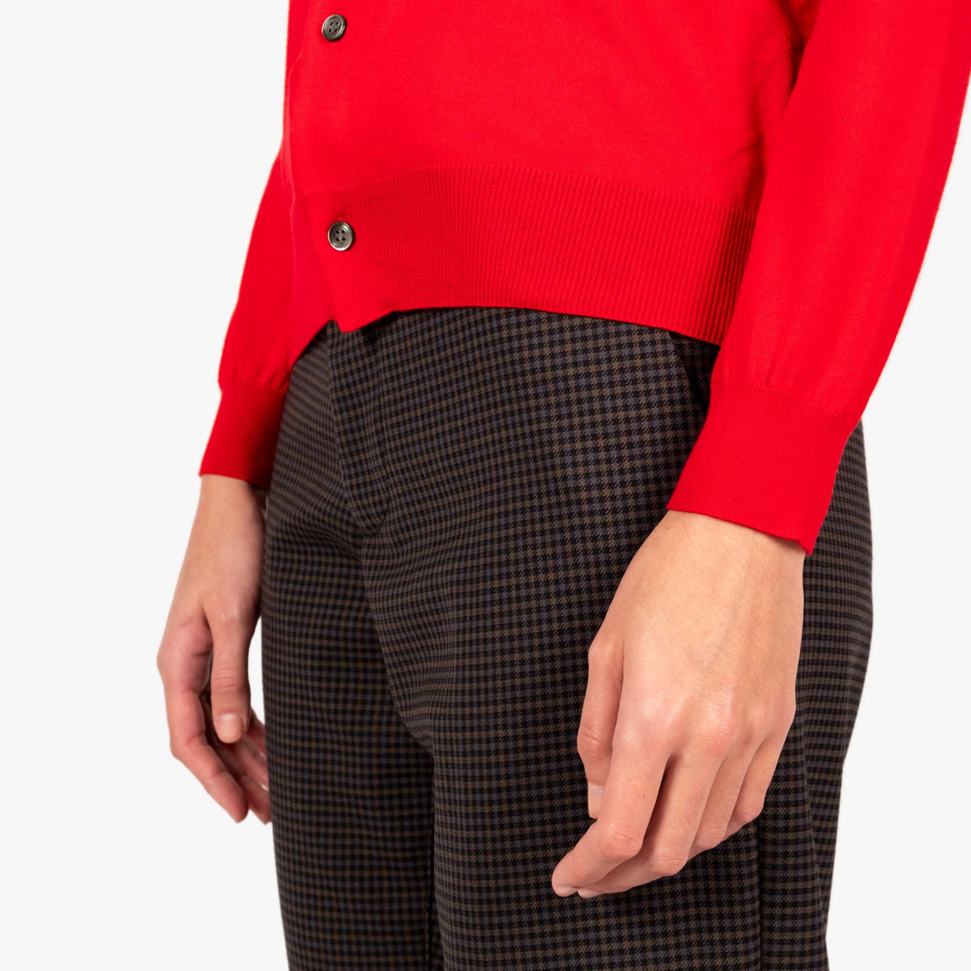 Comme des Garçons - PLAY Small Red Emblem  Womens Cardigan - Red 5