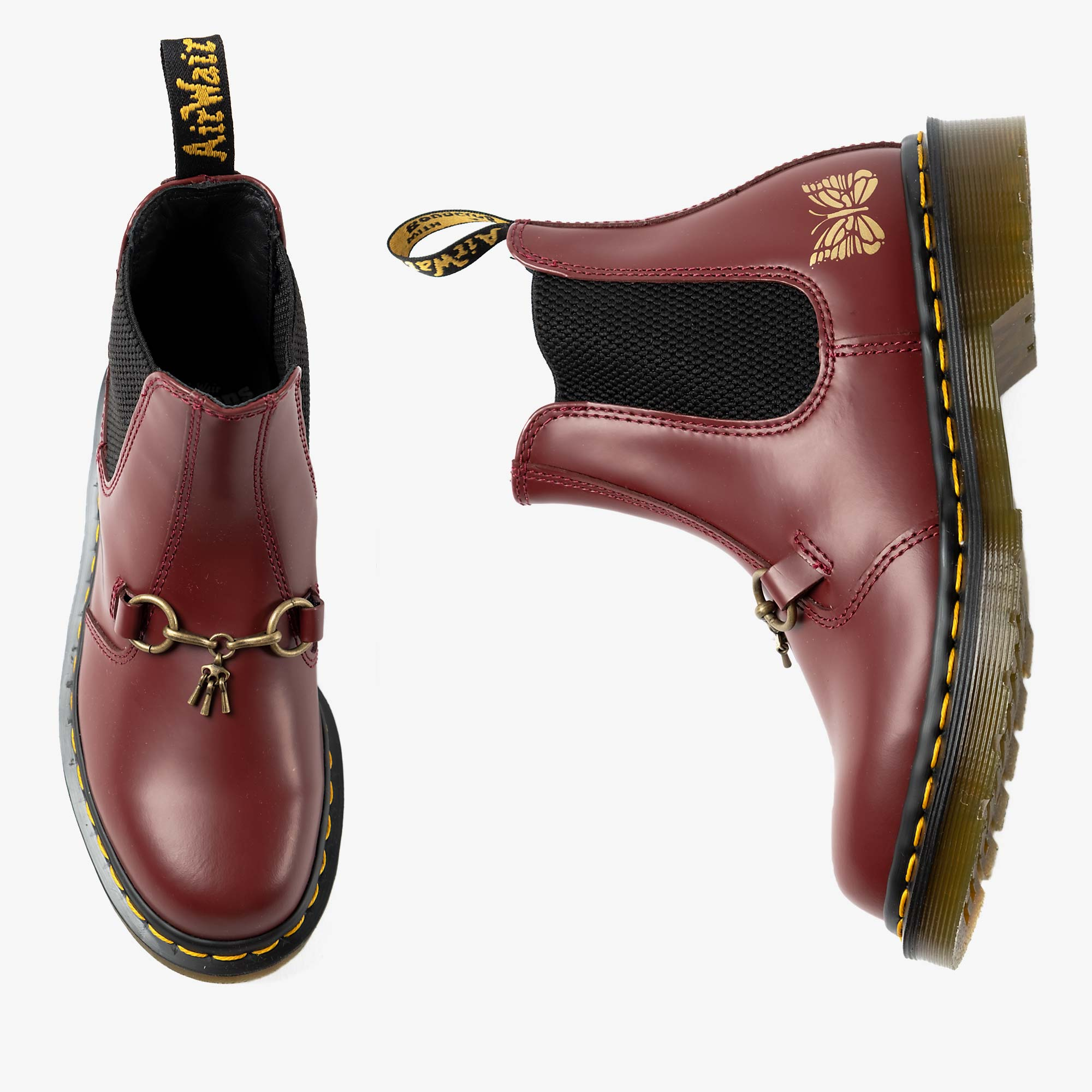 Needles Needles x Dr. Martens 2976 Snaffle - Cherry Red 1