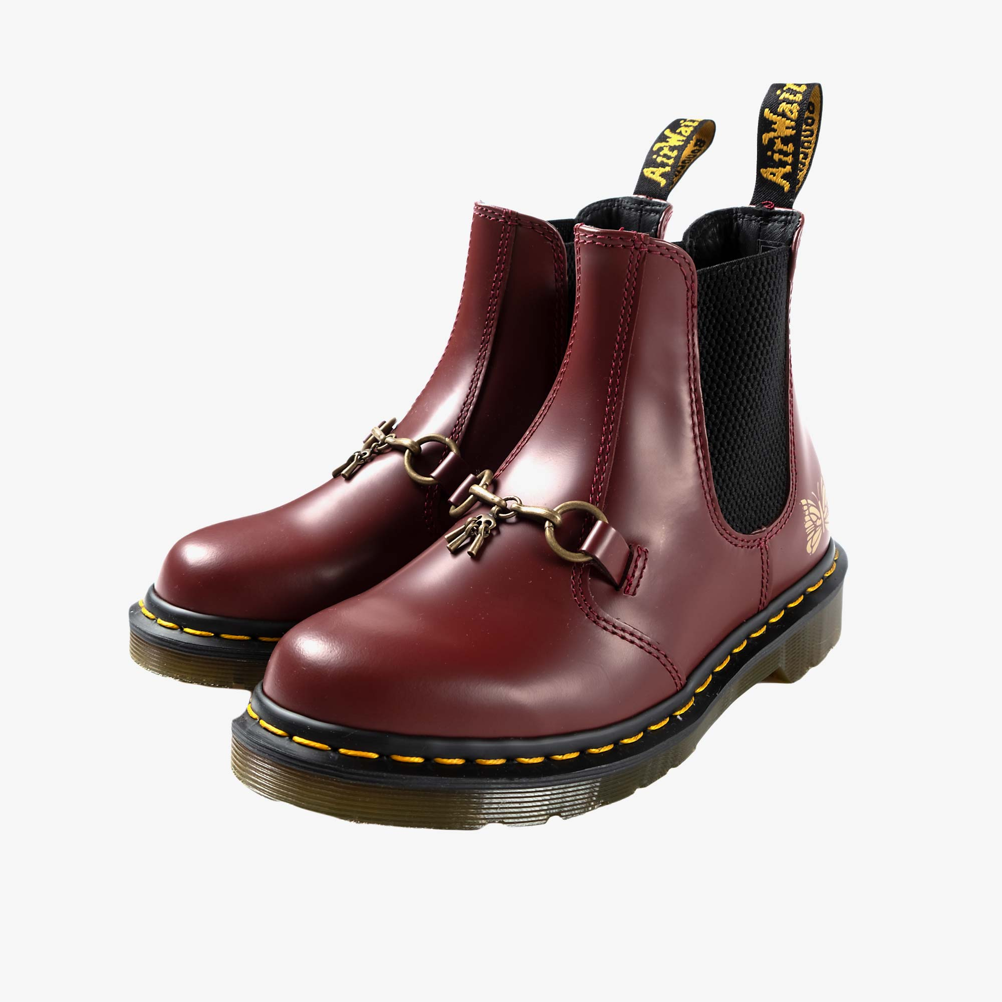 Needles Needles x Dr. Martens 2976 Snaffle - Cherry Red 2