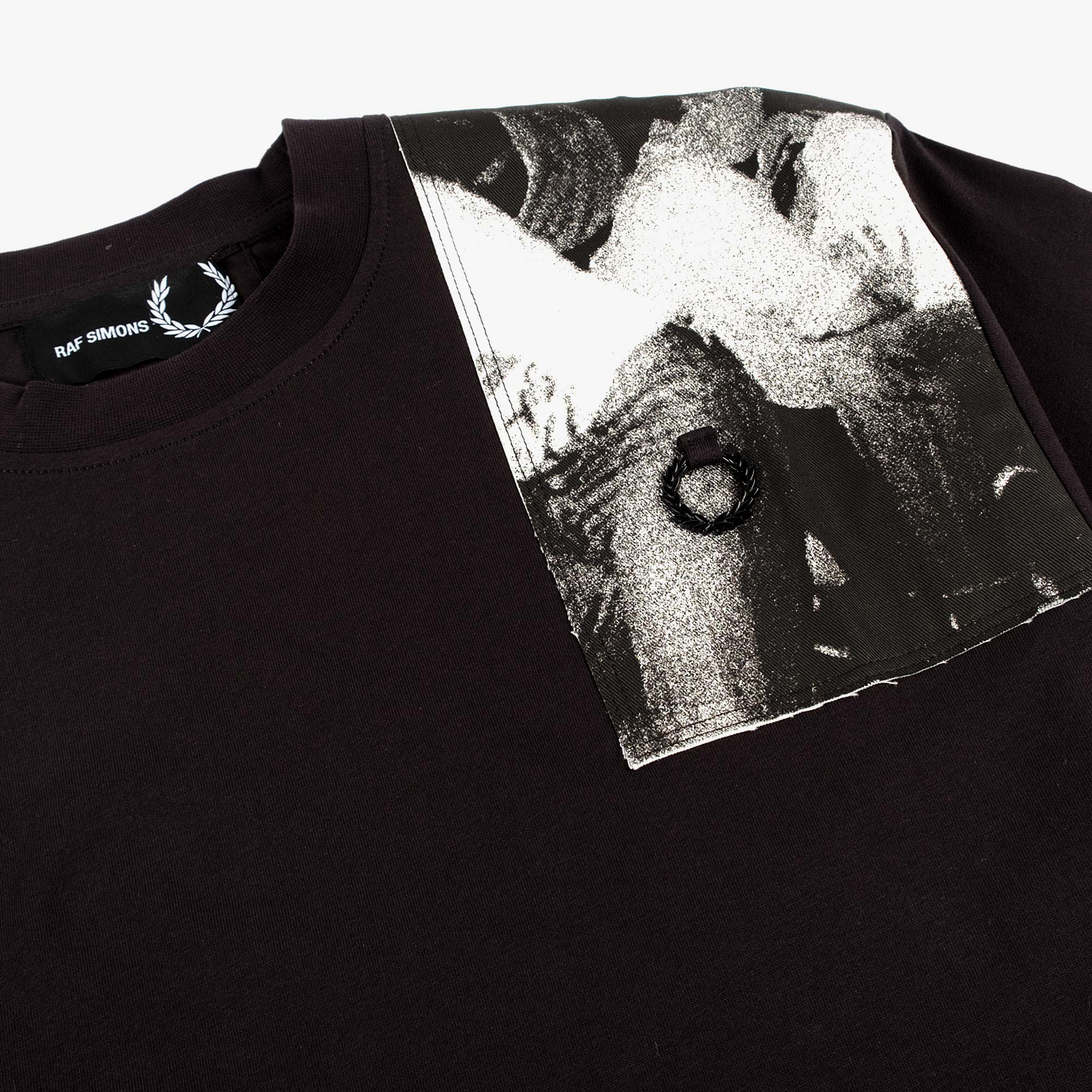 Fred Perry X Raf Simons Oversized Printed Patch Tee - Black 2