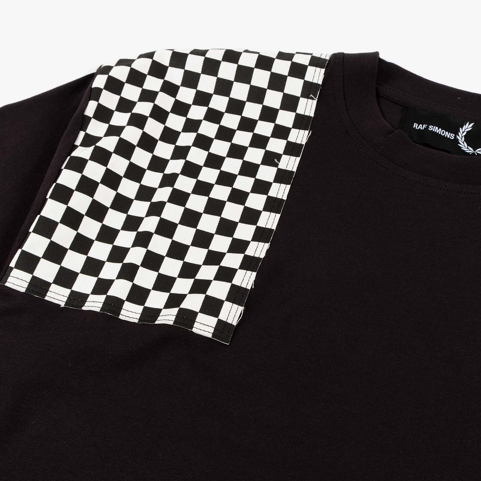 Fred Perry X Raf Simons Oversized Printed Patch Tee - Black 3