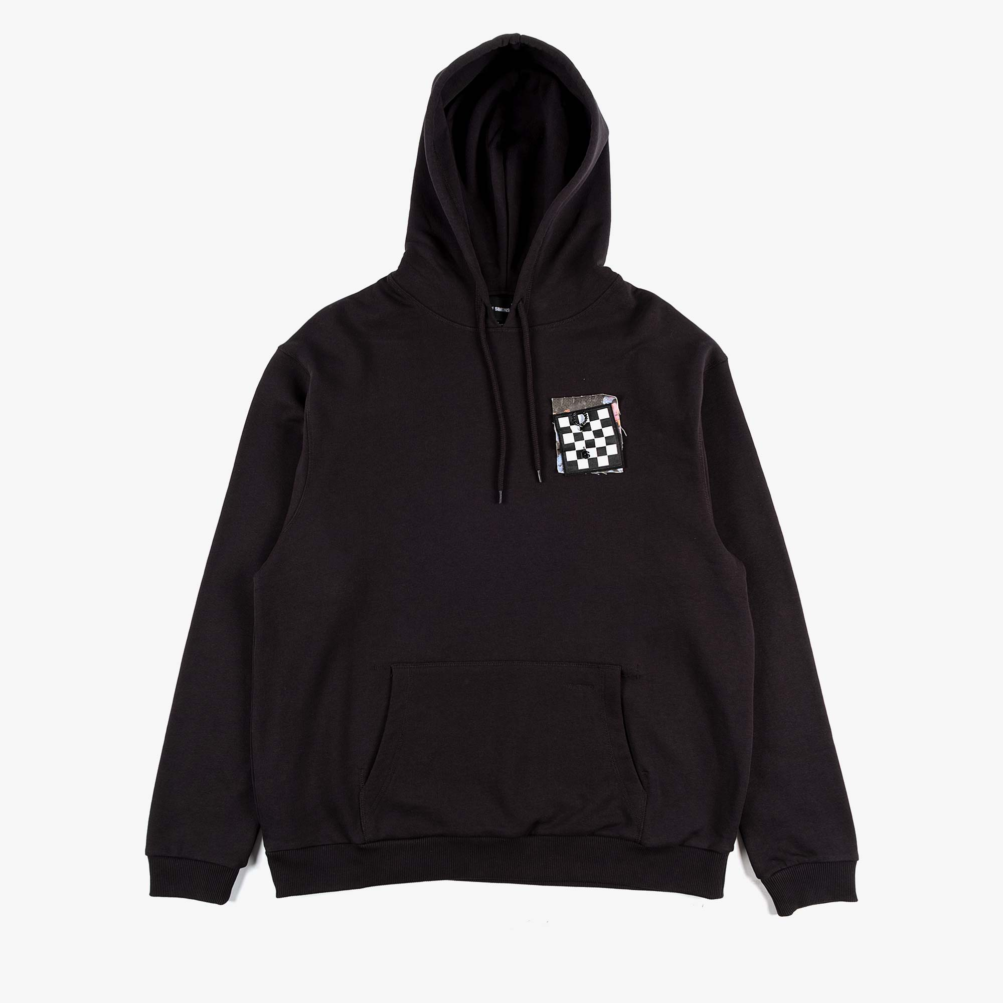Fred Perry X Raf Simons Pin Detail Printed Patch Hoody - Black 2