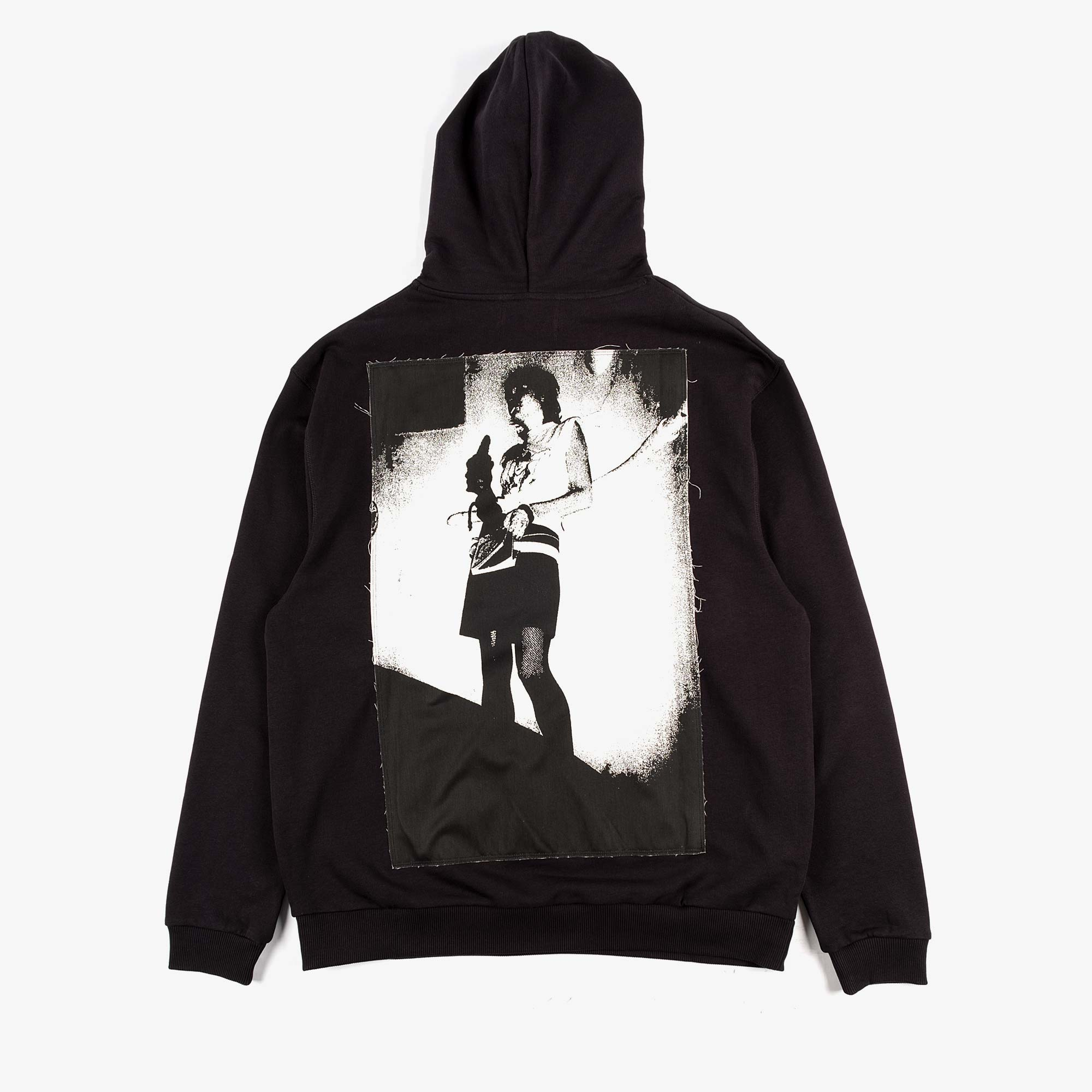 Fred Perry X Raf Simons Pin Detail Printed Patch Hoody - Black 1
