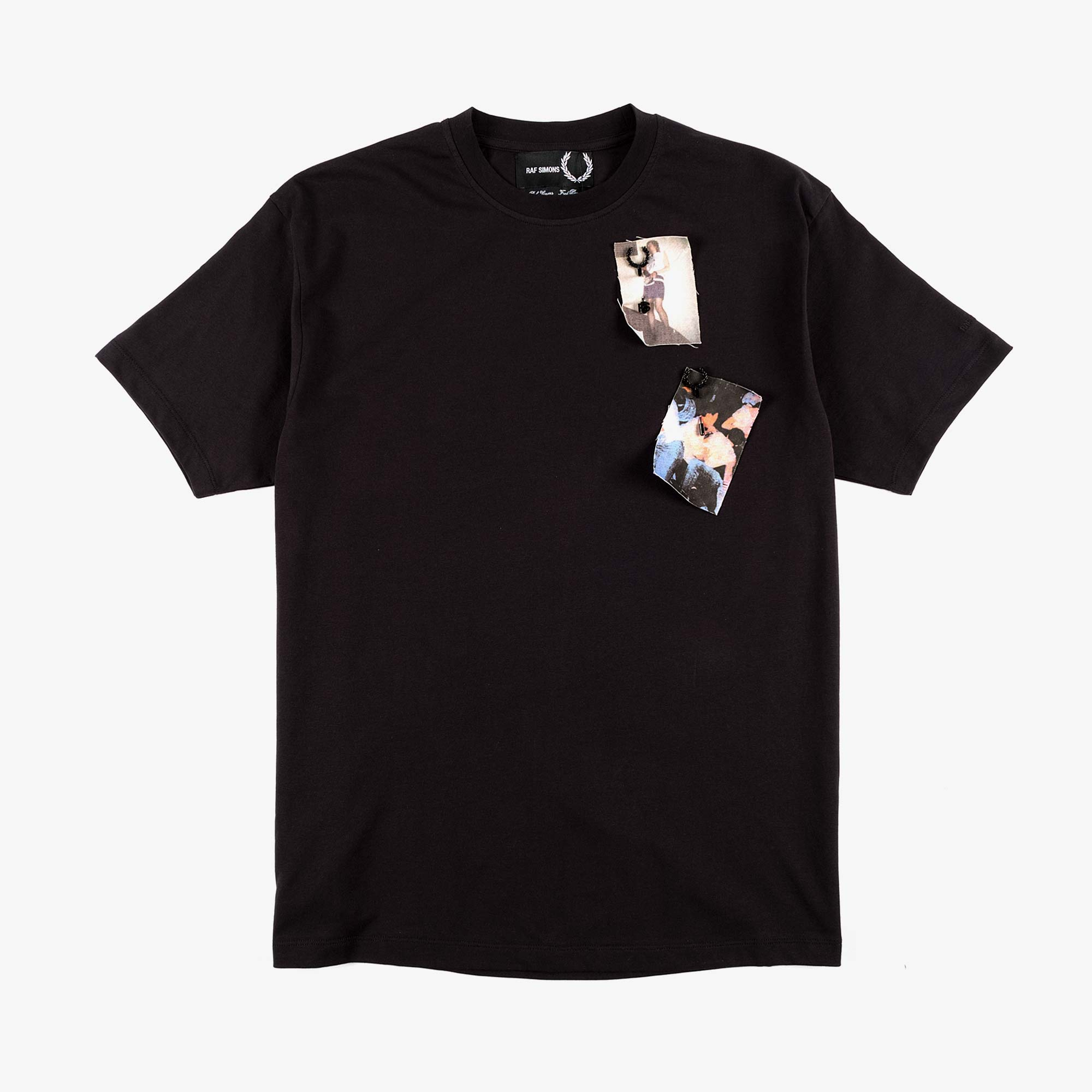 Fred Perry X Raf Simons Printed Patch Tee - Black 1