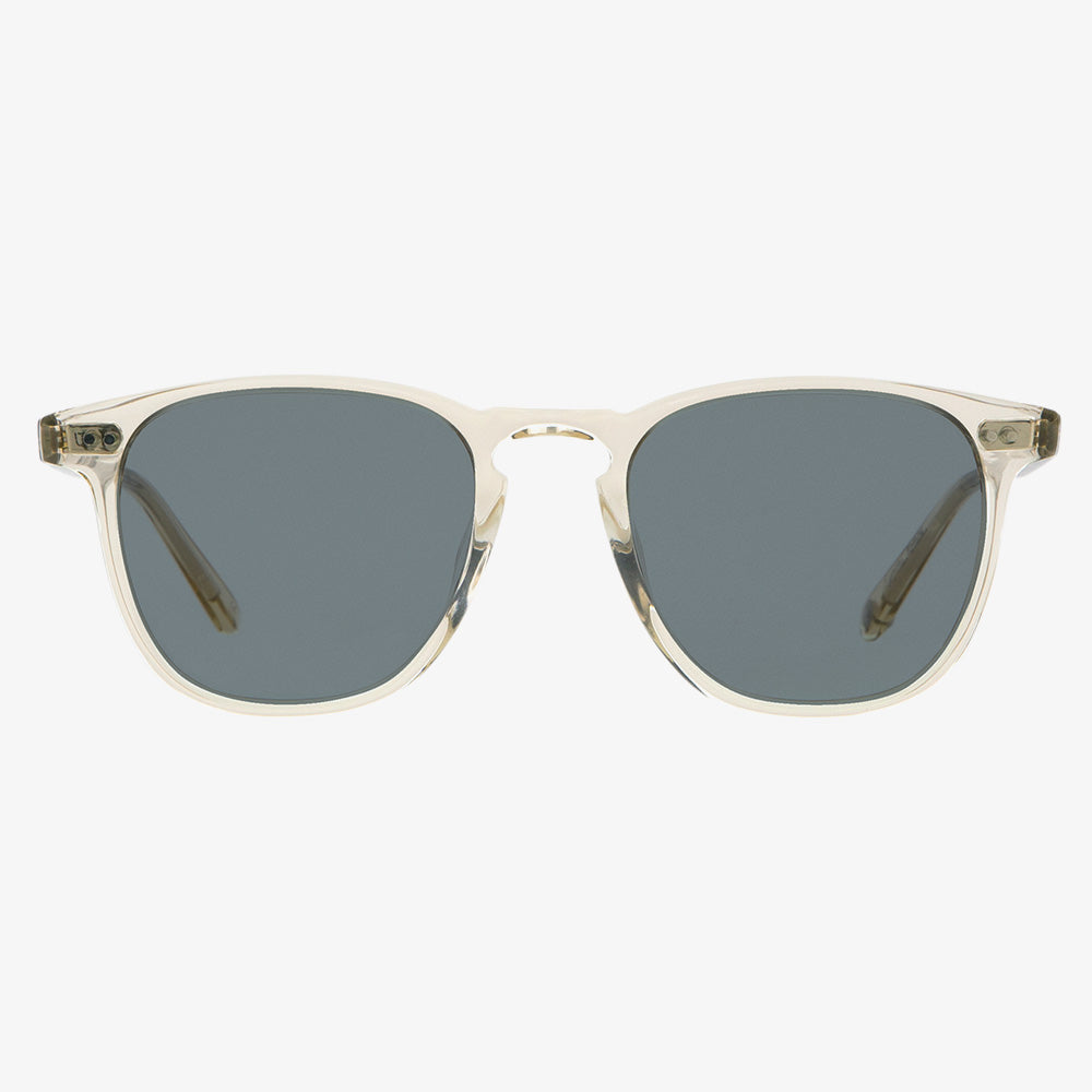Garrett Leight Brooks Sunglasses - Champagne / Semi-Flat Blue Smoke 1