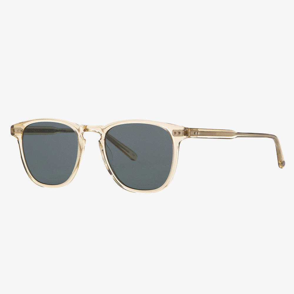 Garrett Leight Brooks Sunglasses - Champagne / Semi-Flat Blue Smoke 2