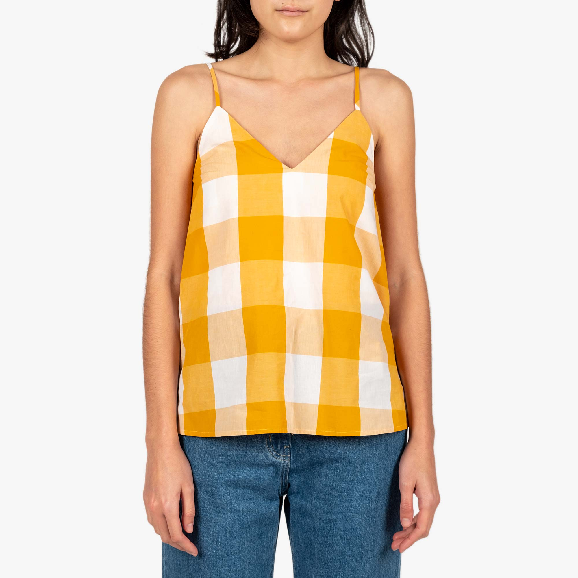 Kowtow Stencil Top - Daisy Check 1