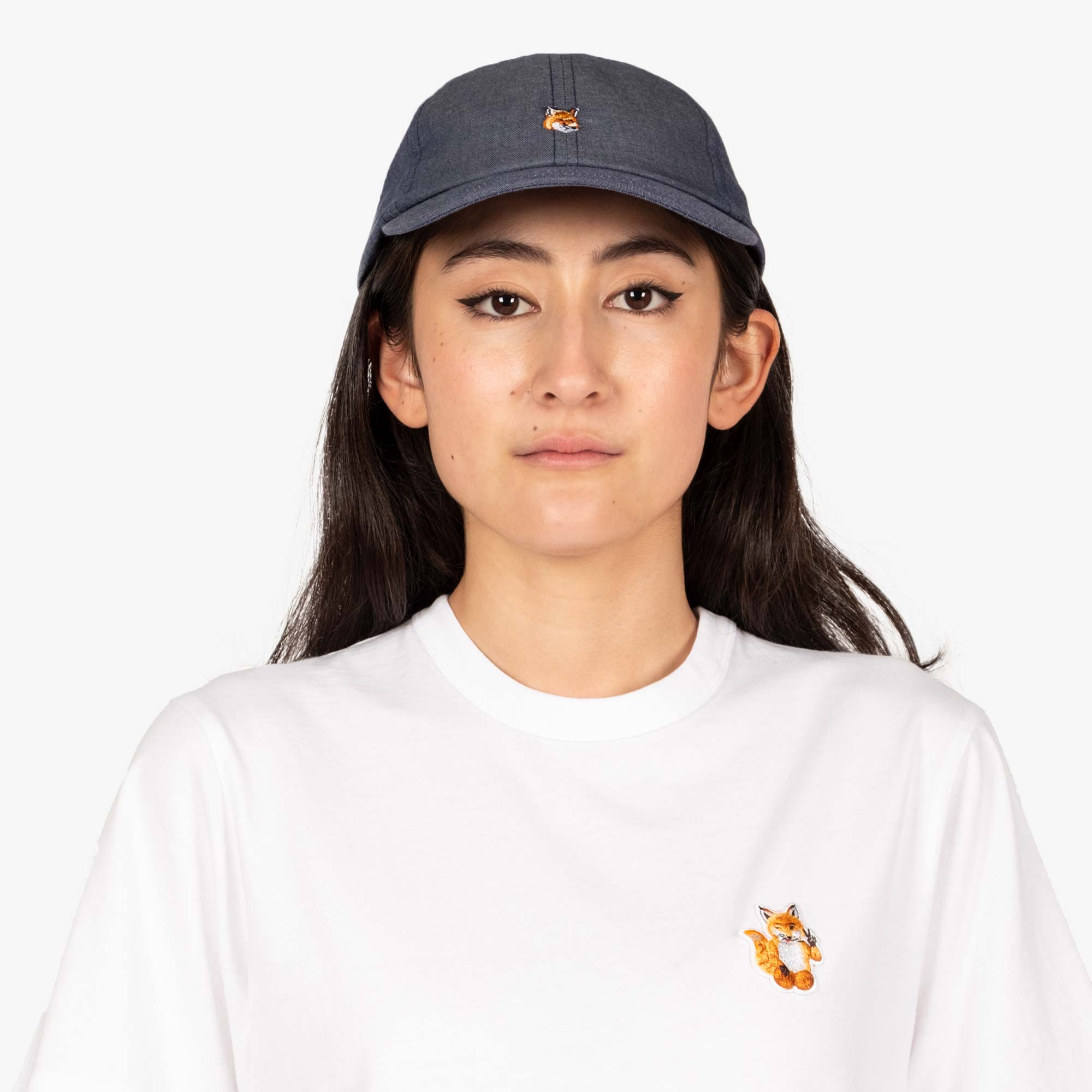 Maison Kitsune Small Fox Head Cap - Navy 3