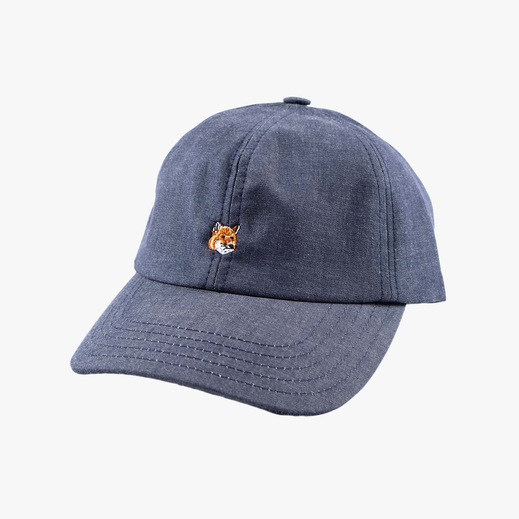 Maison Kitsune Small Fox Head Cap - Navy 1