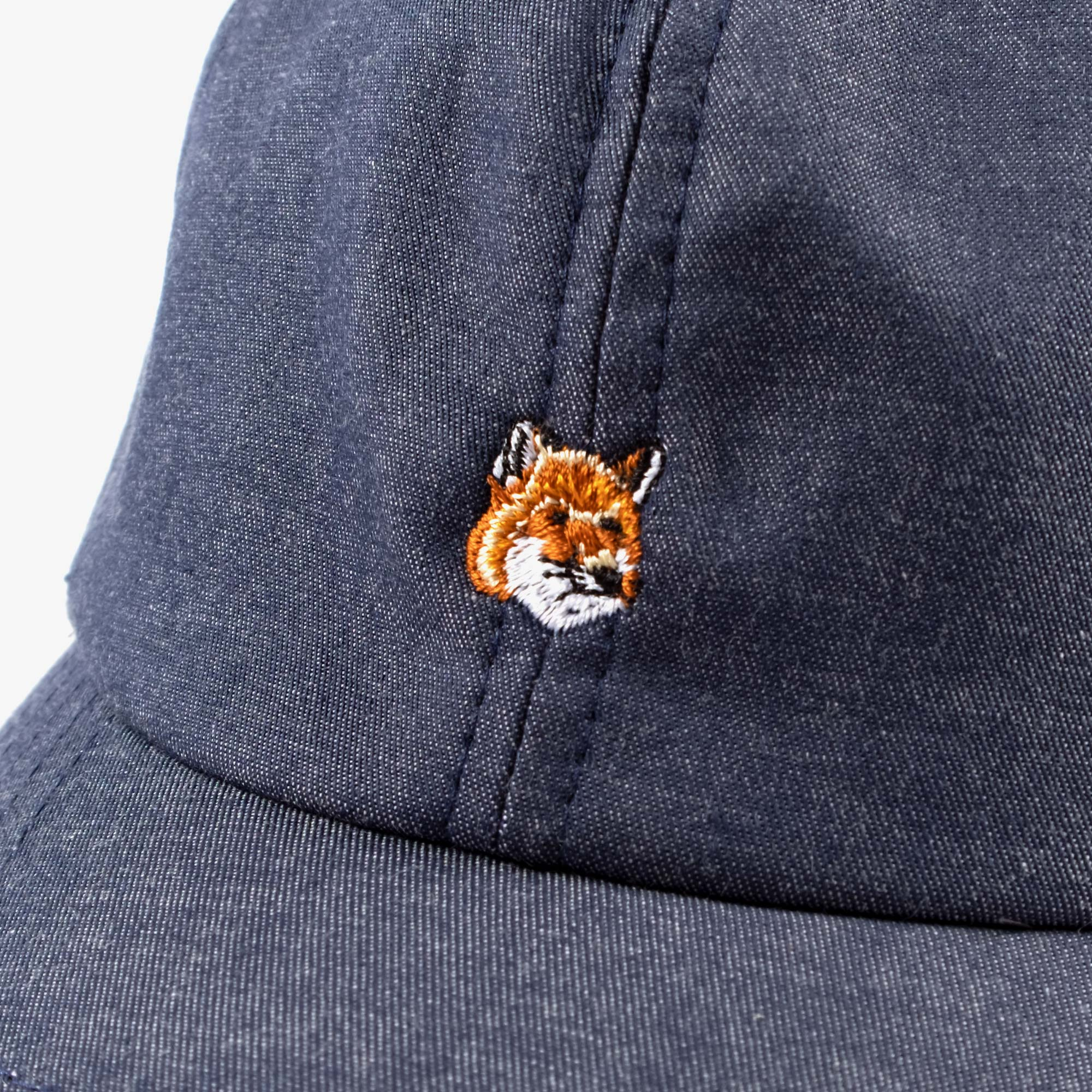 Maison Kitsune Small Fox Head Cap - Navy 2